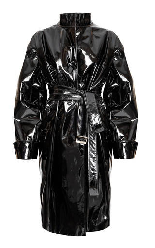 Coated Vinyl Leather Trench Coat By Alexandre Vauthier