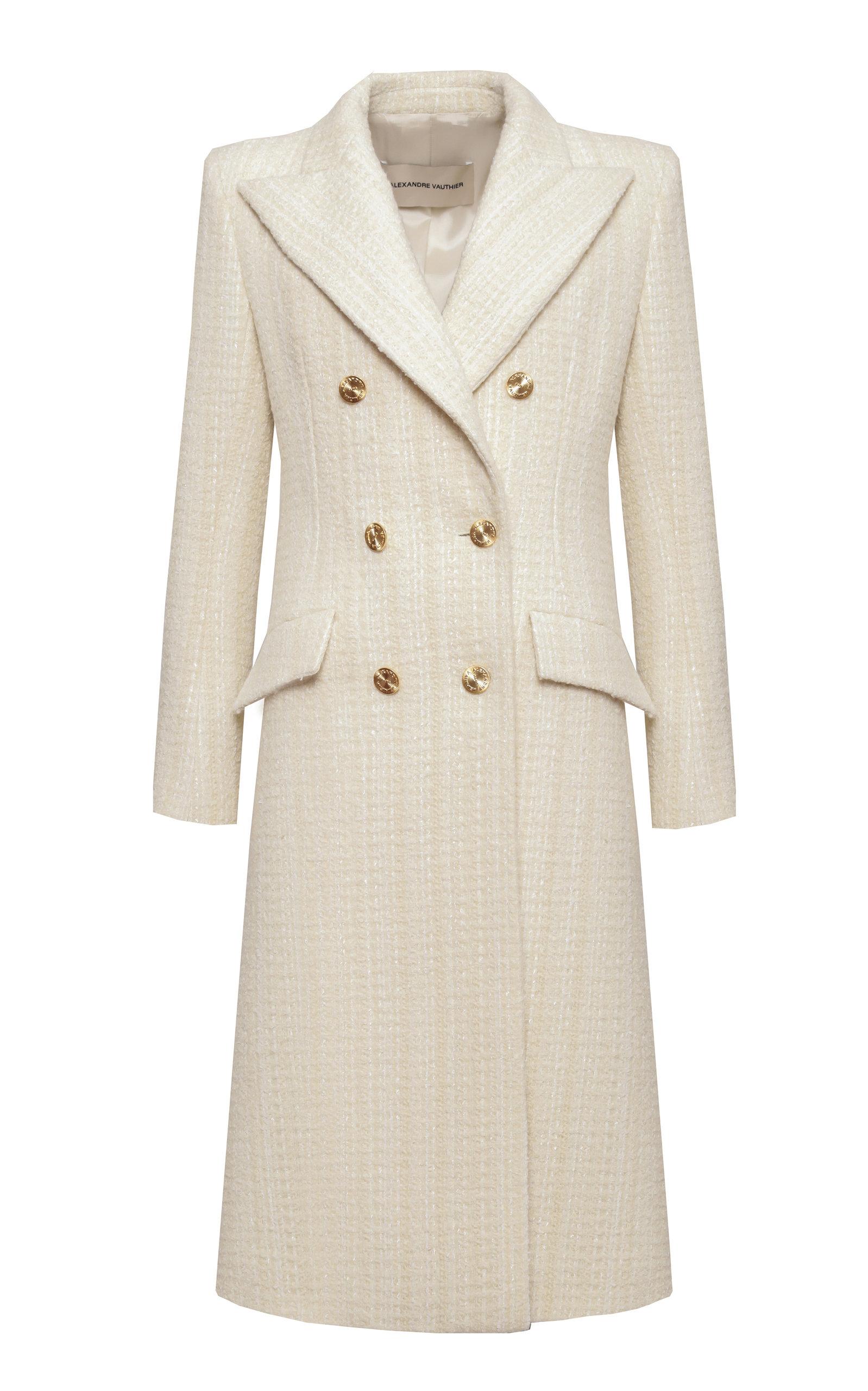 Alexandre Vauthier Coats Tweed Wool-Blend Coat