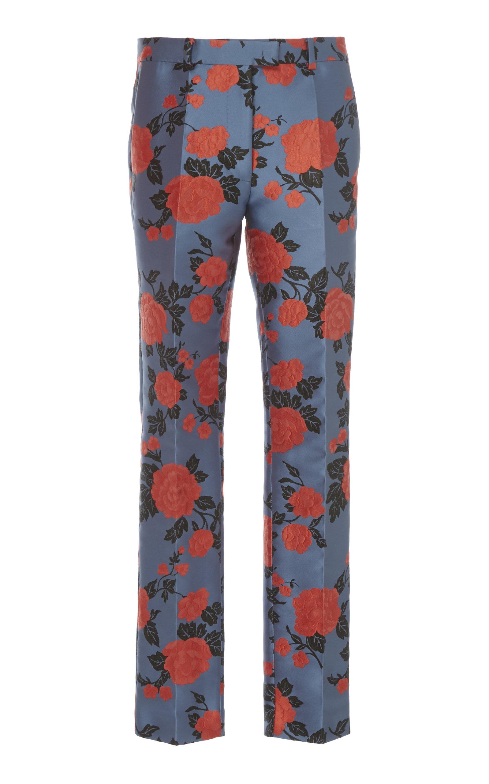 22308994fe preorder. DELPOZO. Floral-Print Jacquard Skinny Pants