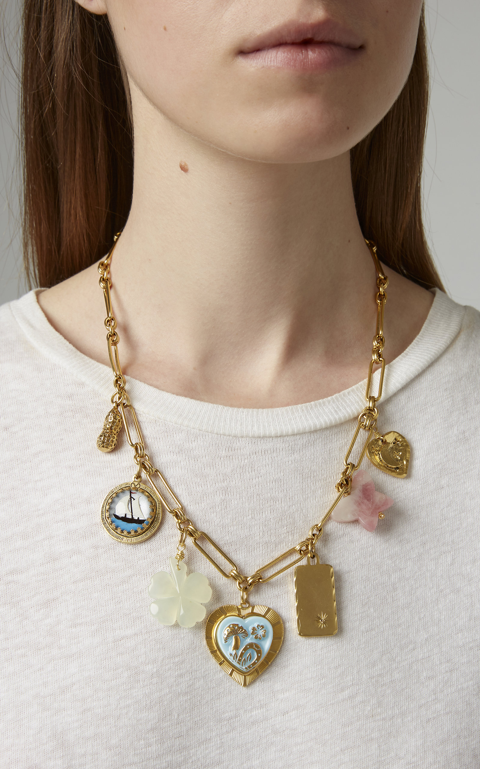 e63c3330fe02d Mischief Managed 24K Gold-Plated Charm Necklace