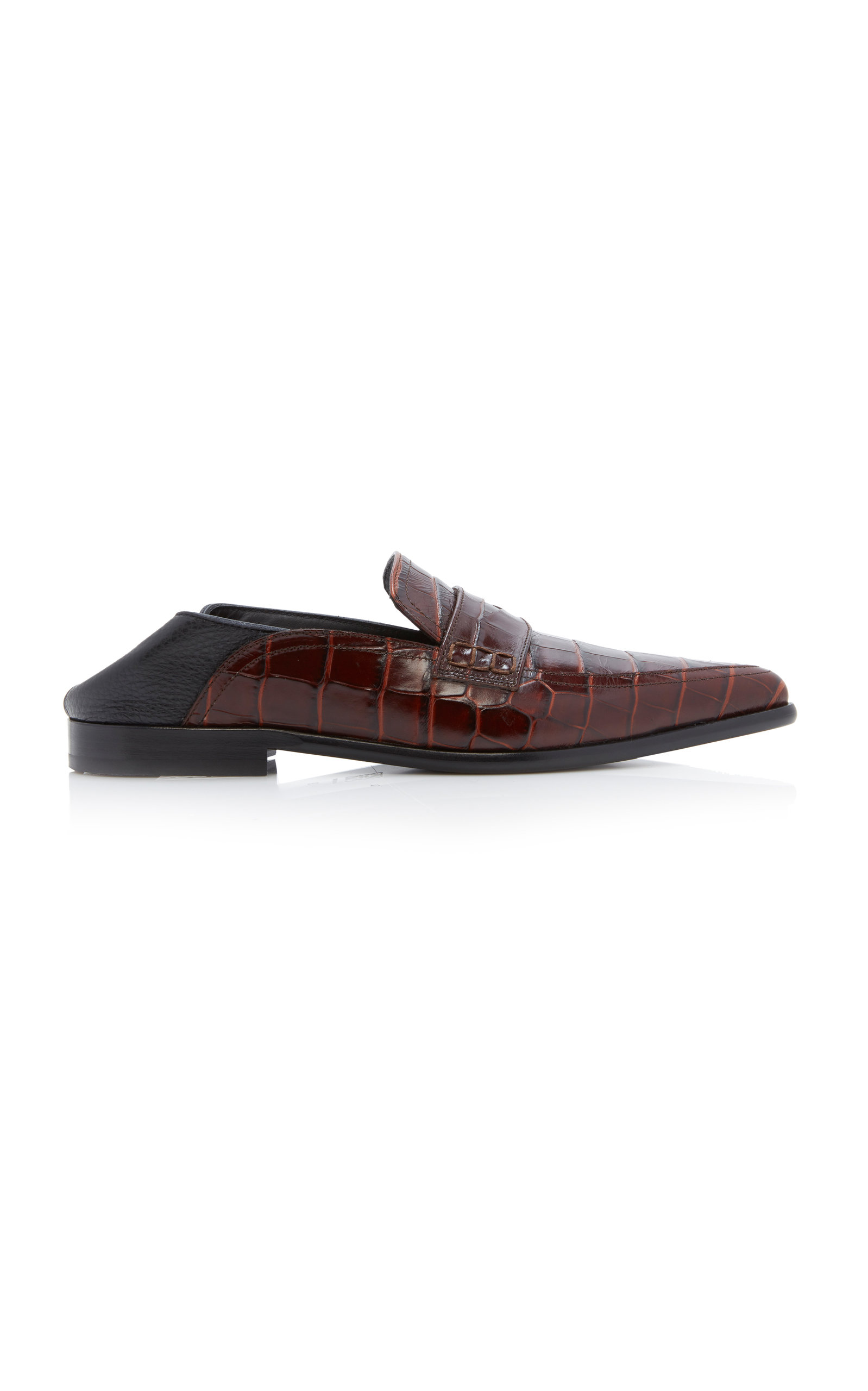 59a5ba98f80 LoeweEmbossed Croc-Effect Leather Loafers. CLOSE. Loading