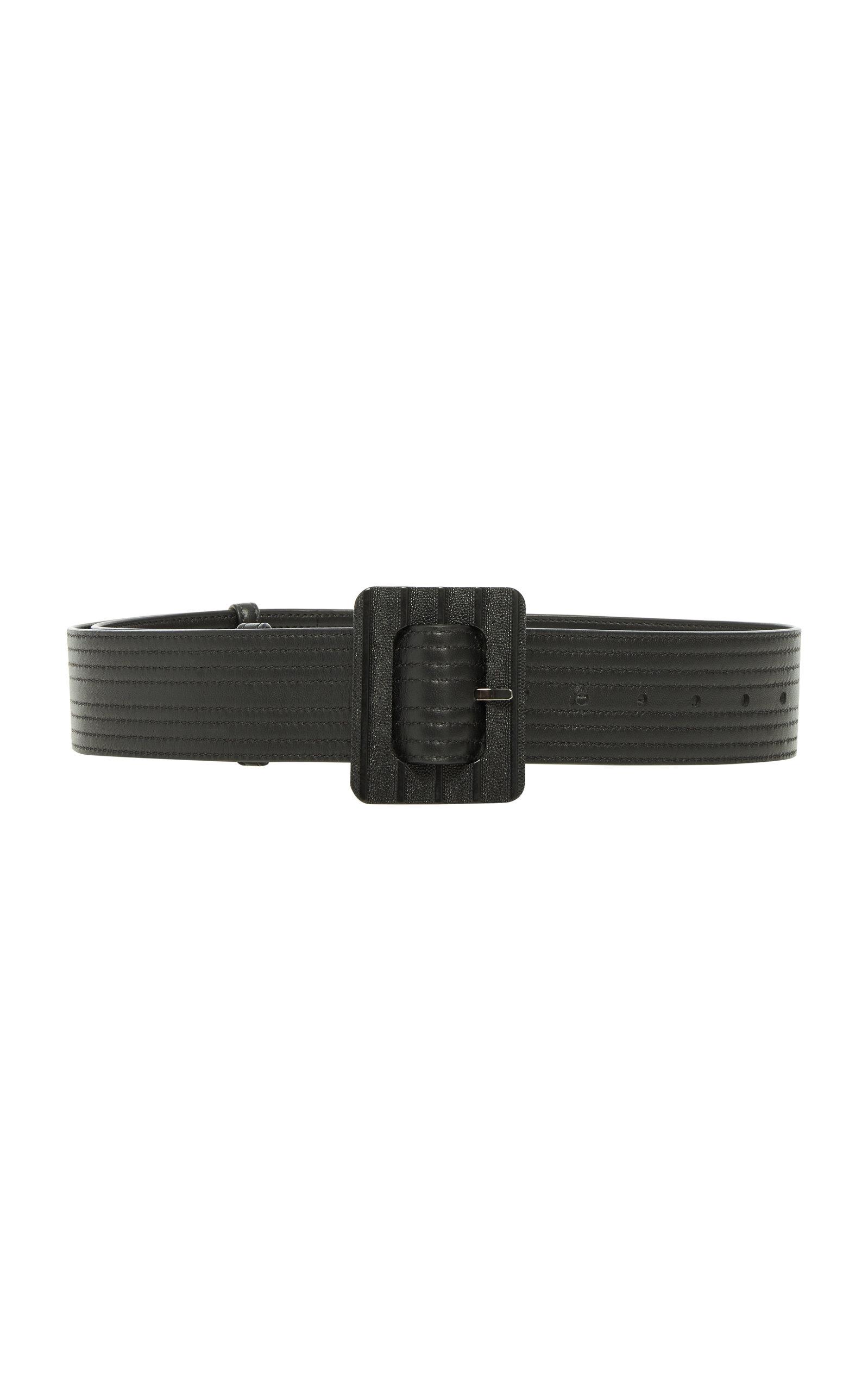 Givenchy Belts Stitched Leather Waist Belt