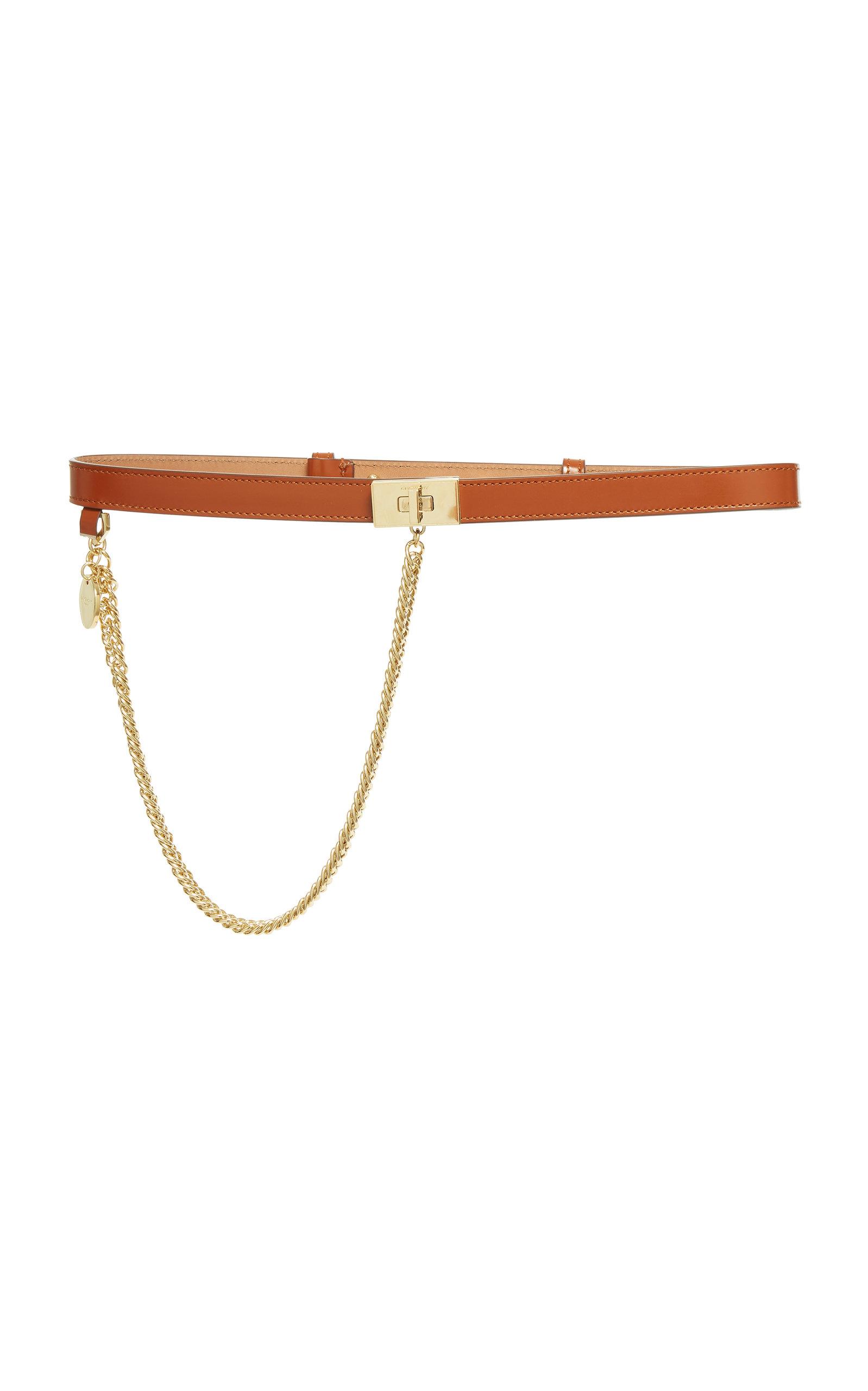 Givenchy Belts CHAIN-EMBELLISHED LEATHER BELT