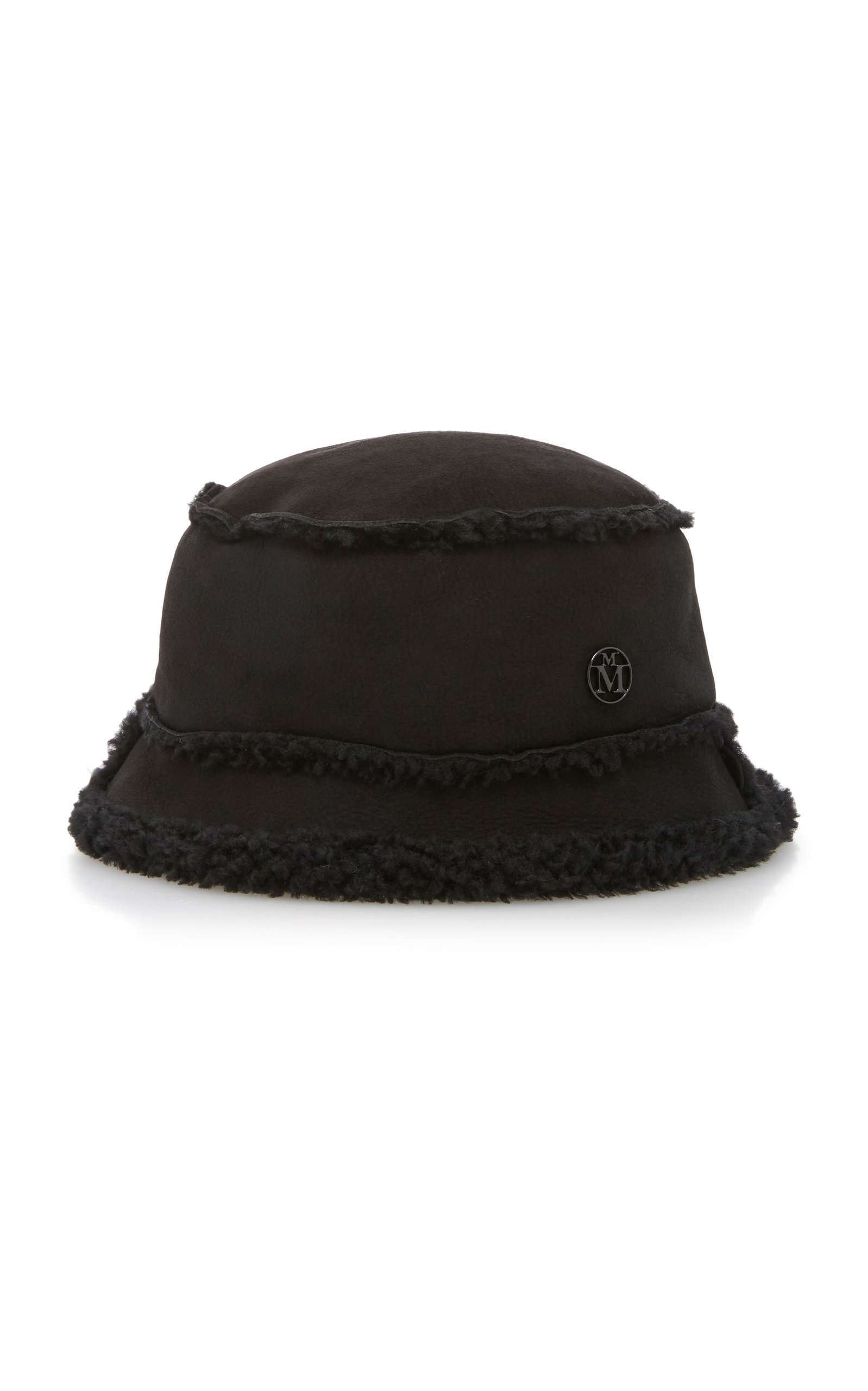 Maison Michel Hats Malo Shearling Bucket Hat