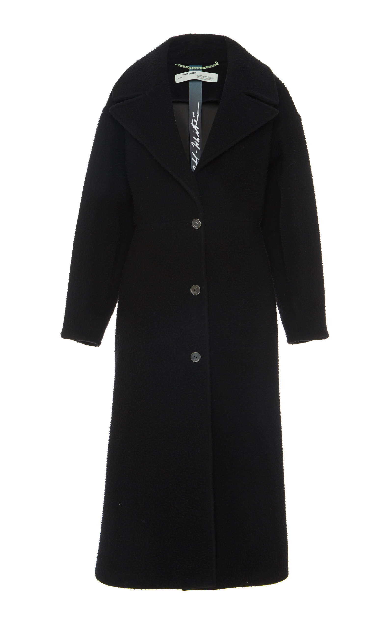 Off-White Coats WOOL OVERCOAT SIZE: 46