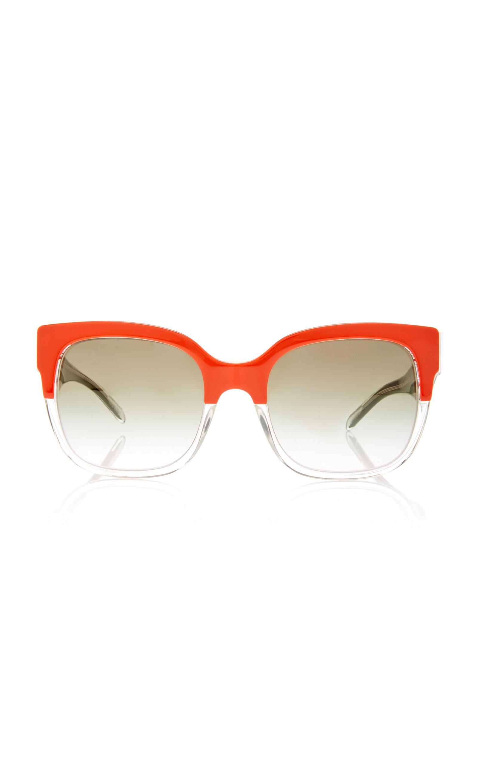 1491b83c6d8c D-Frame Color-Block Acetate Sunglasses by Burberry Sunglasses | Moda ...