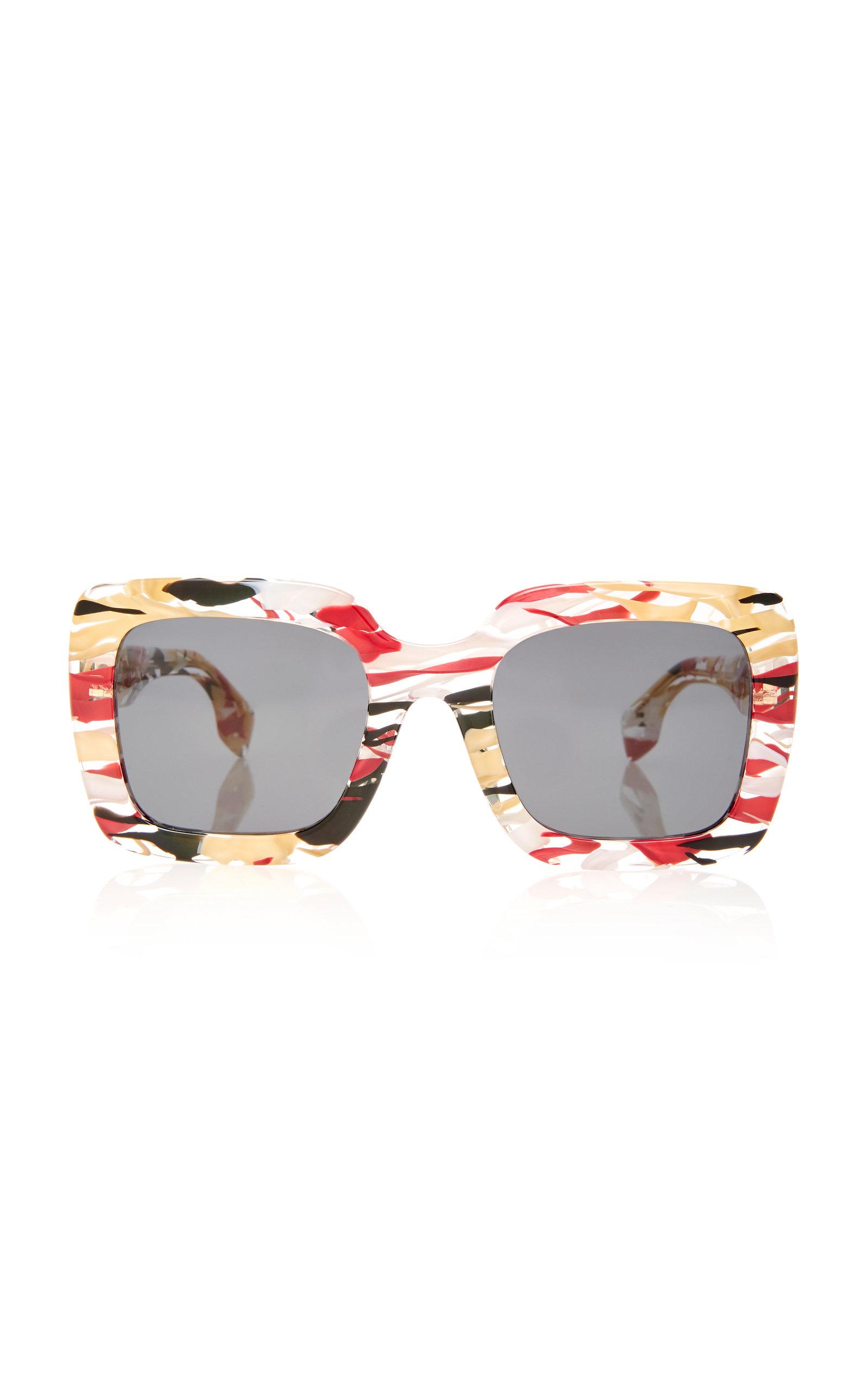 966308b66a34 Burberry SunglassesSquare-Frame Marbled Acetate Sunglasses. CLOSE. Loading