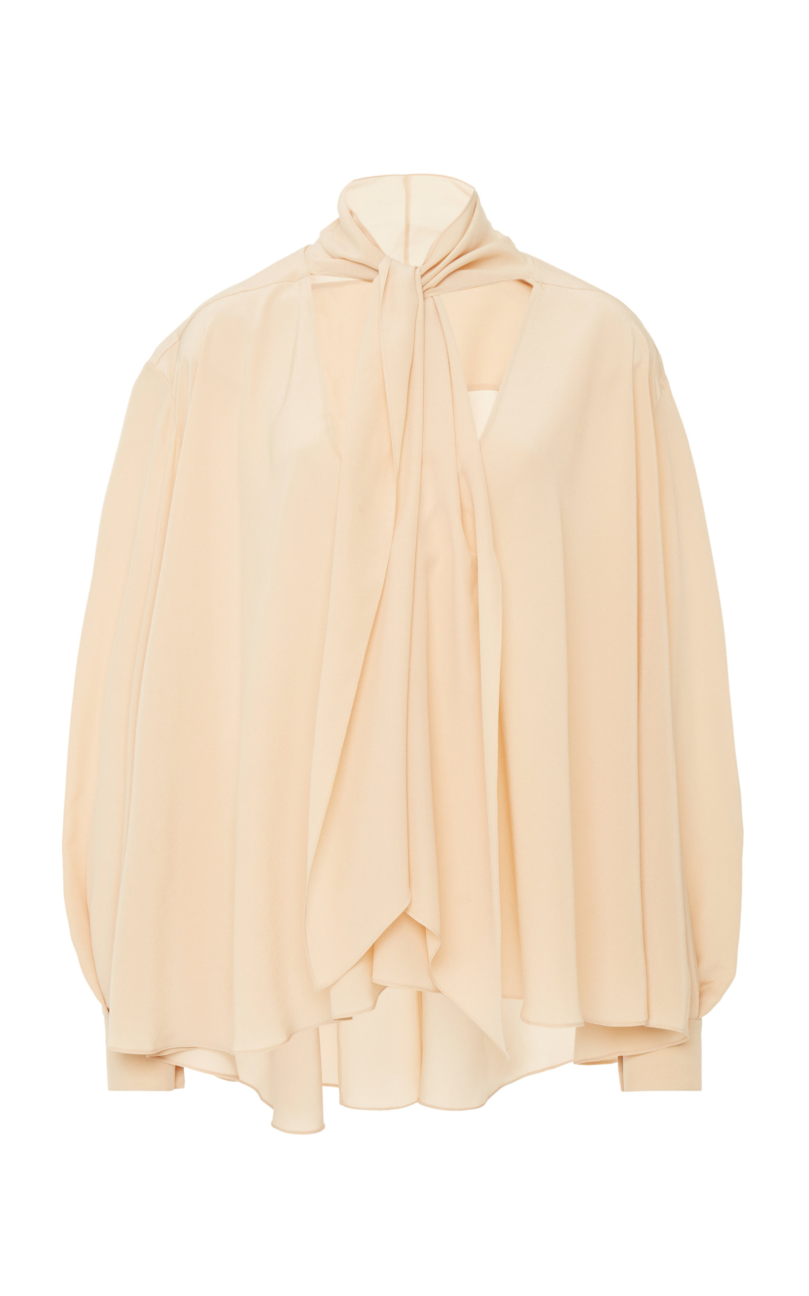 Givenchy Tops Pussy-Bow Crepe de Chine Top