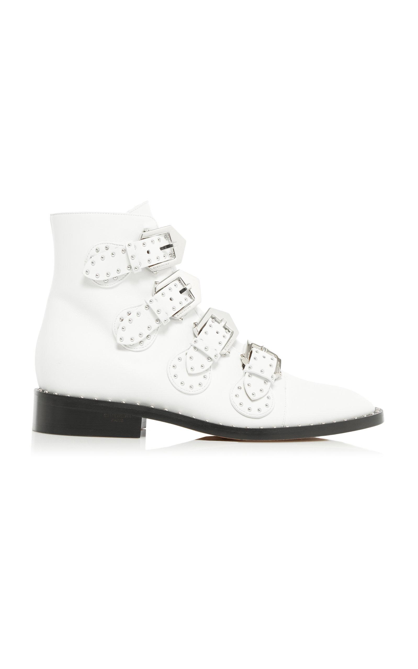 Givenchy Boots Elegant Stud-Embellished Leather Ankle Boots