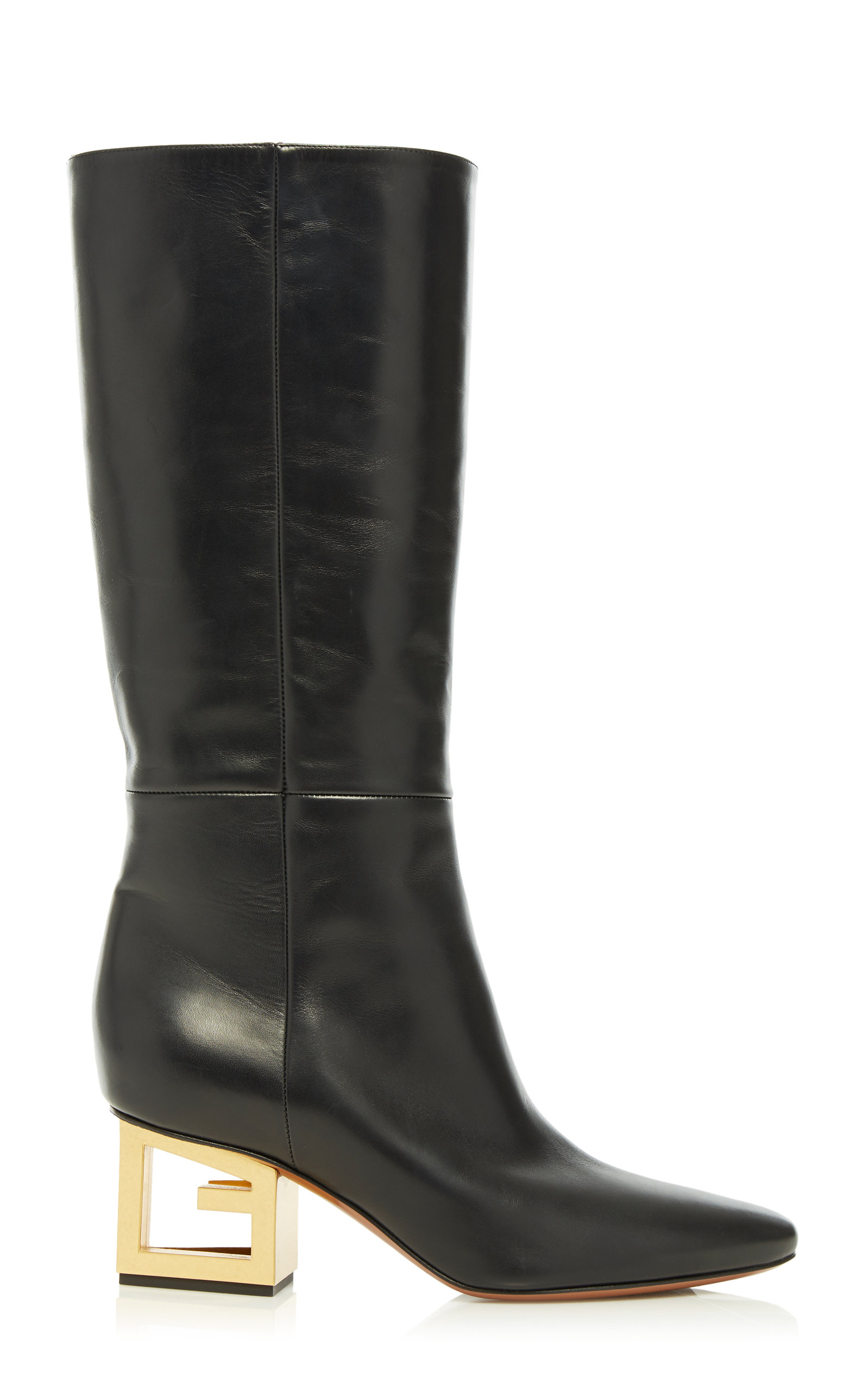 Givenchy Boots Triangle Leather Mid-Calf Boots