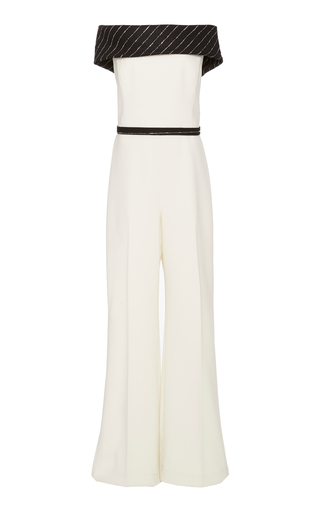 3427805b4f0 Fully Embroidered Tulle Jumpsuit by Zuhair Murad