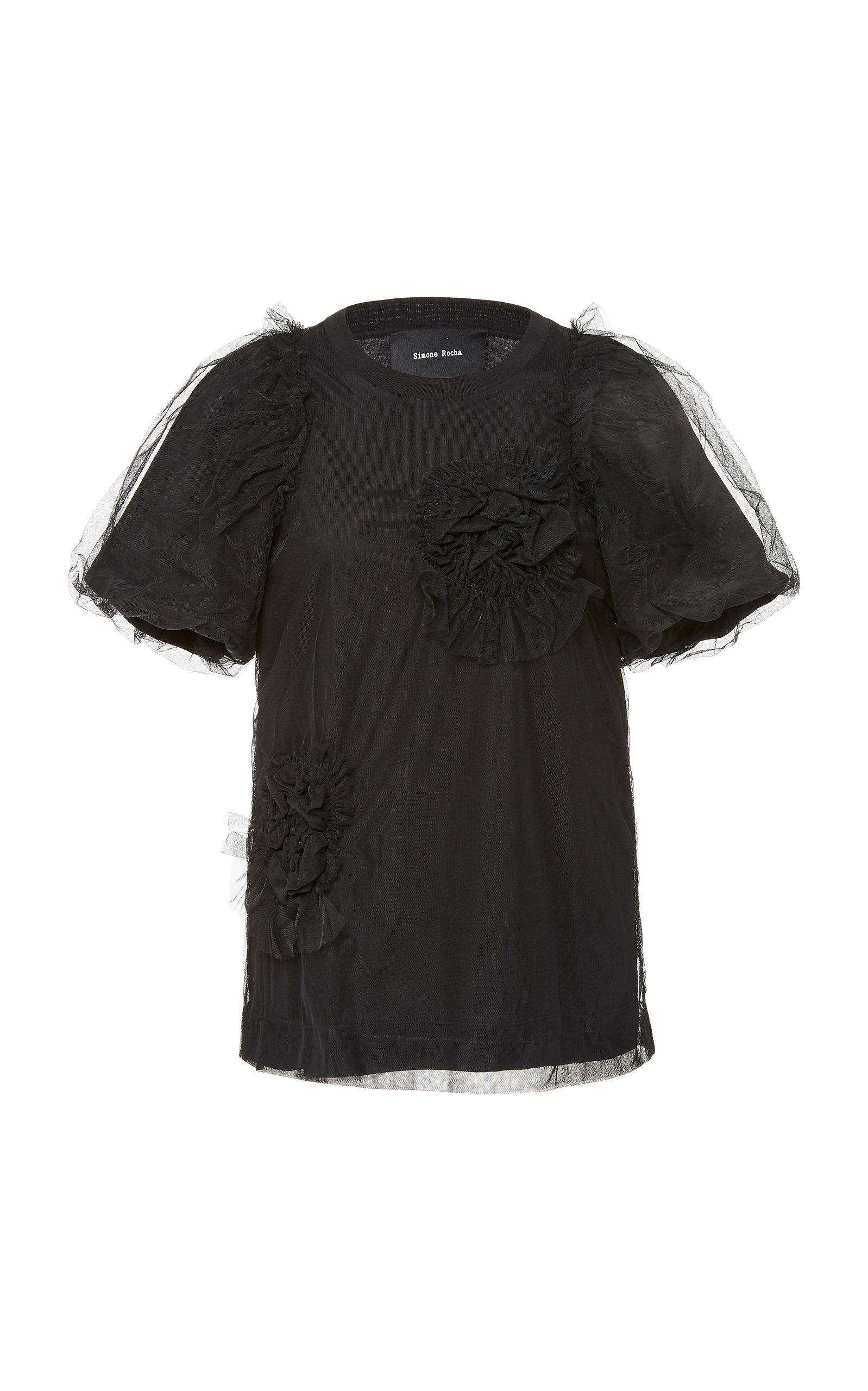 Simone Rocha T-shirts Ruffled Cotton-Jersey T-Shirt