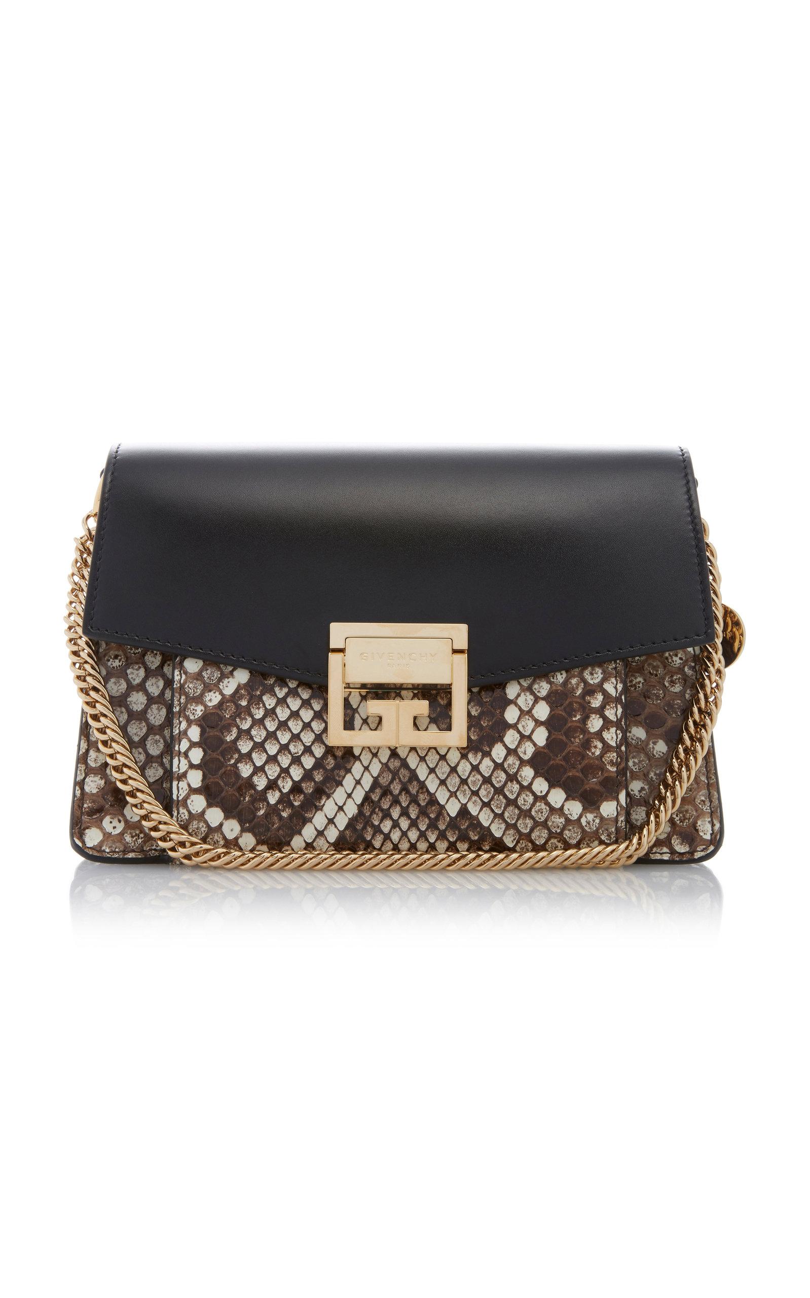 Givenchy Shoulder GV3 SMALL LEATHER AND PYTHON SHOULDER BAG