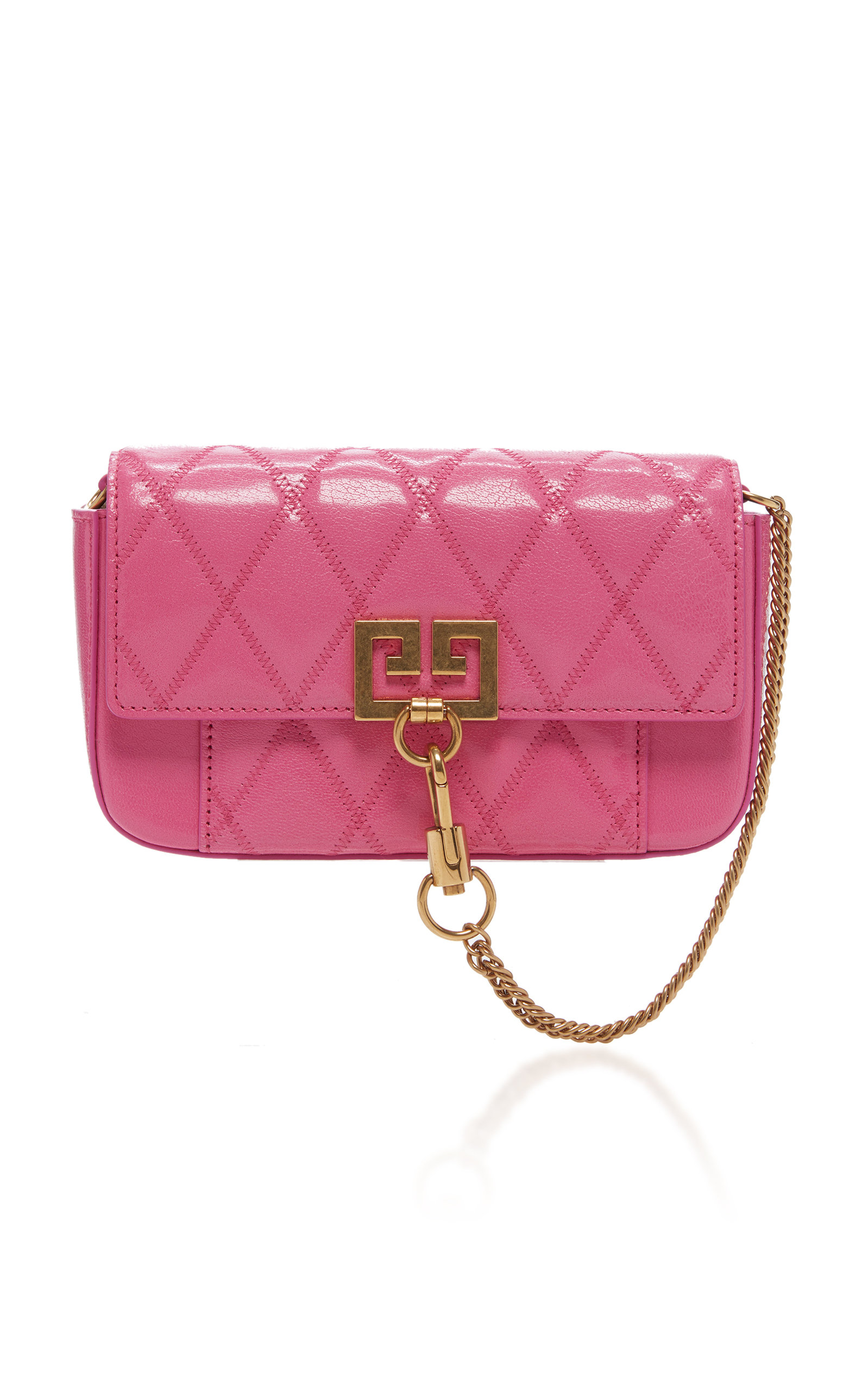 Givenchy Accessories Pocket Mini Quilted Leather Clutch