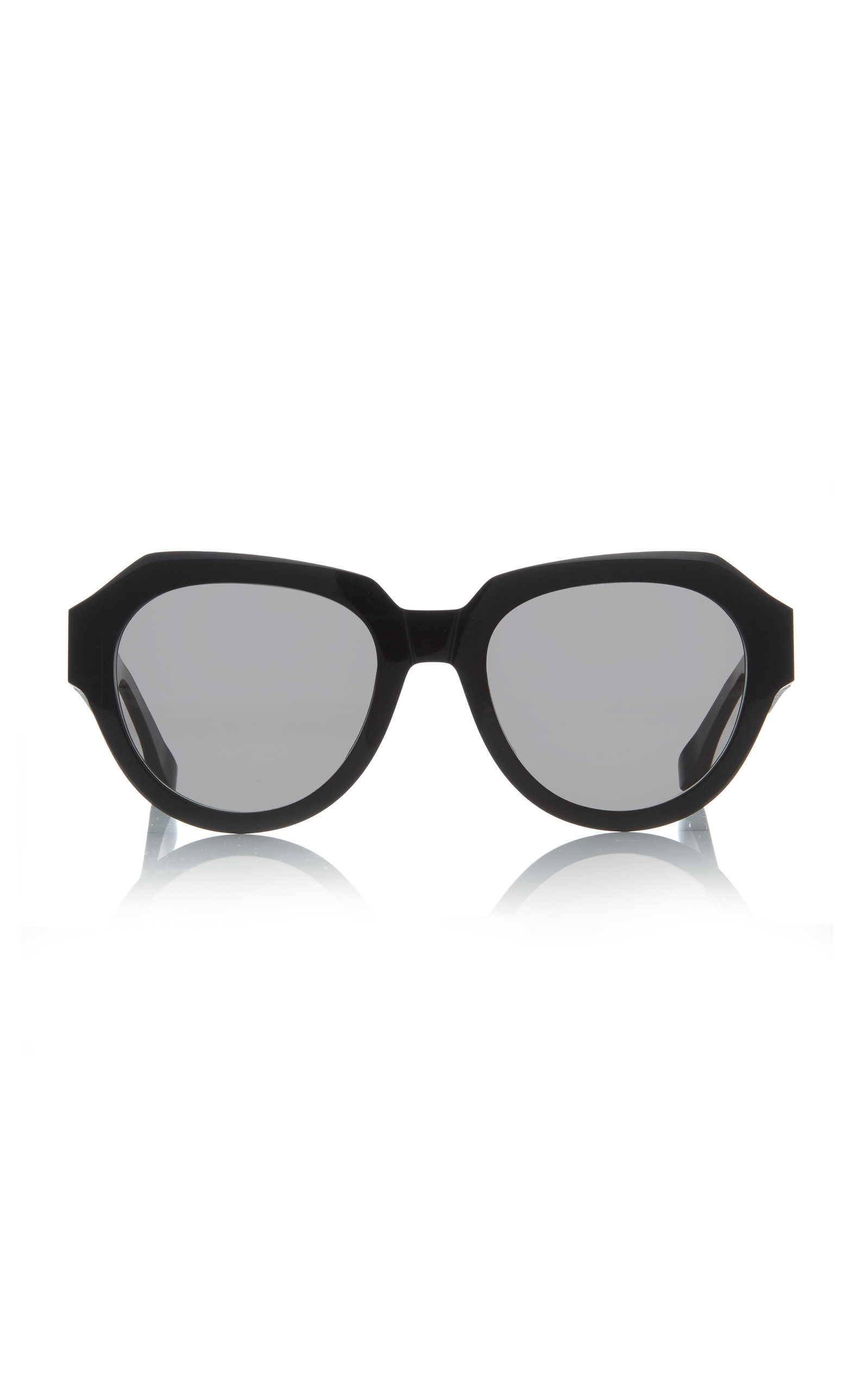 Acetate In Round Black Frame Sunglasses 6mvbfgYyI7