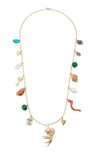 d35ed774474169 Mischief Managed 24K Gold-Plated Charm Necklace by Brinker & Eliza | Moda  Operandi