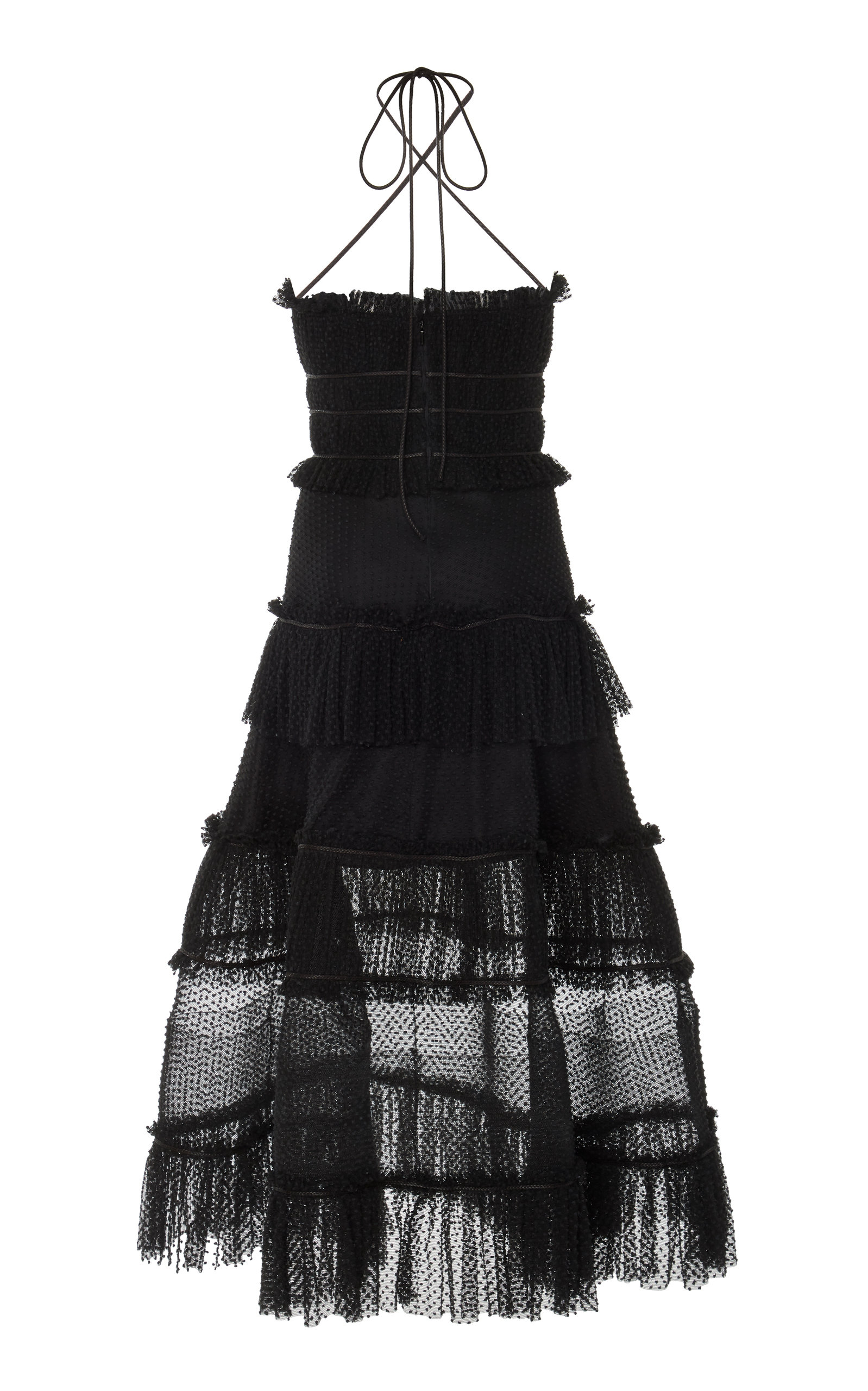 Alexis Dresses Angelia Ruffle-Tiered Criss-Cross Cotton Dress