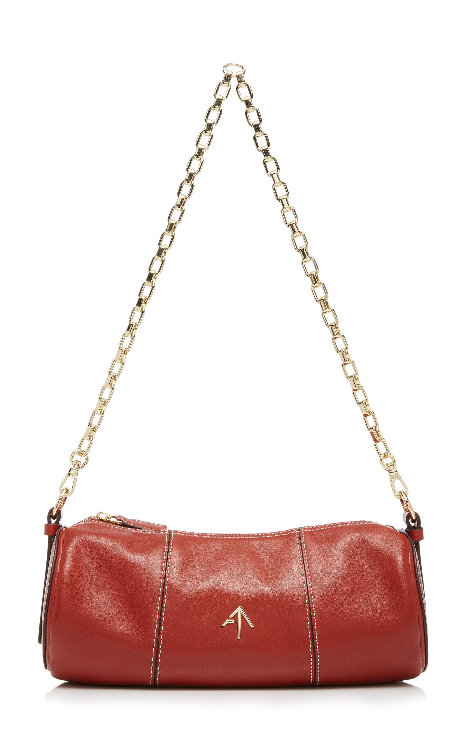 Manu Atelier Crossbody Cylinder Leather Shoulder Bag