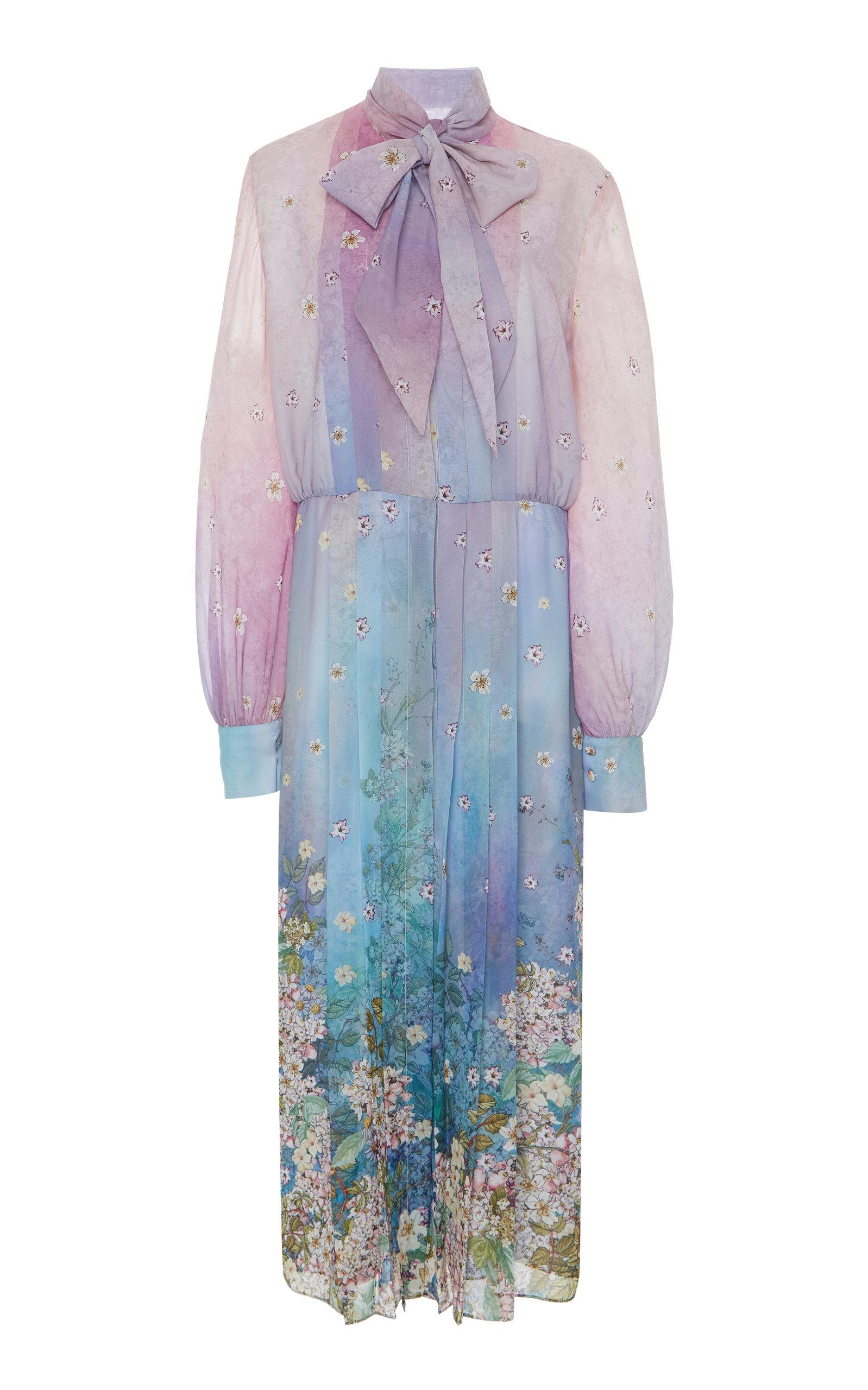 e961ade92f729 Floral Print Chiffon Dress by Luisa Beccaria | Moda Operandi