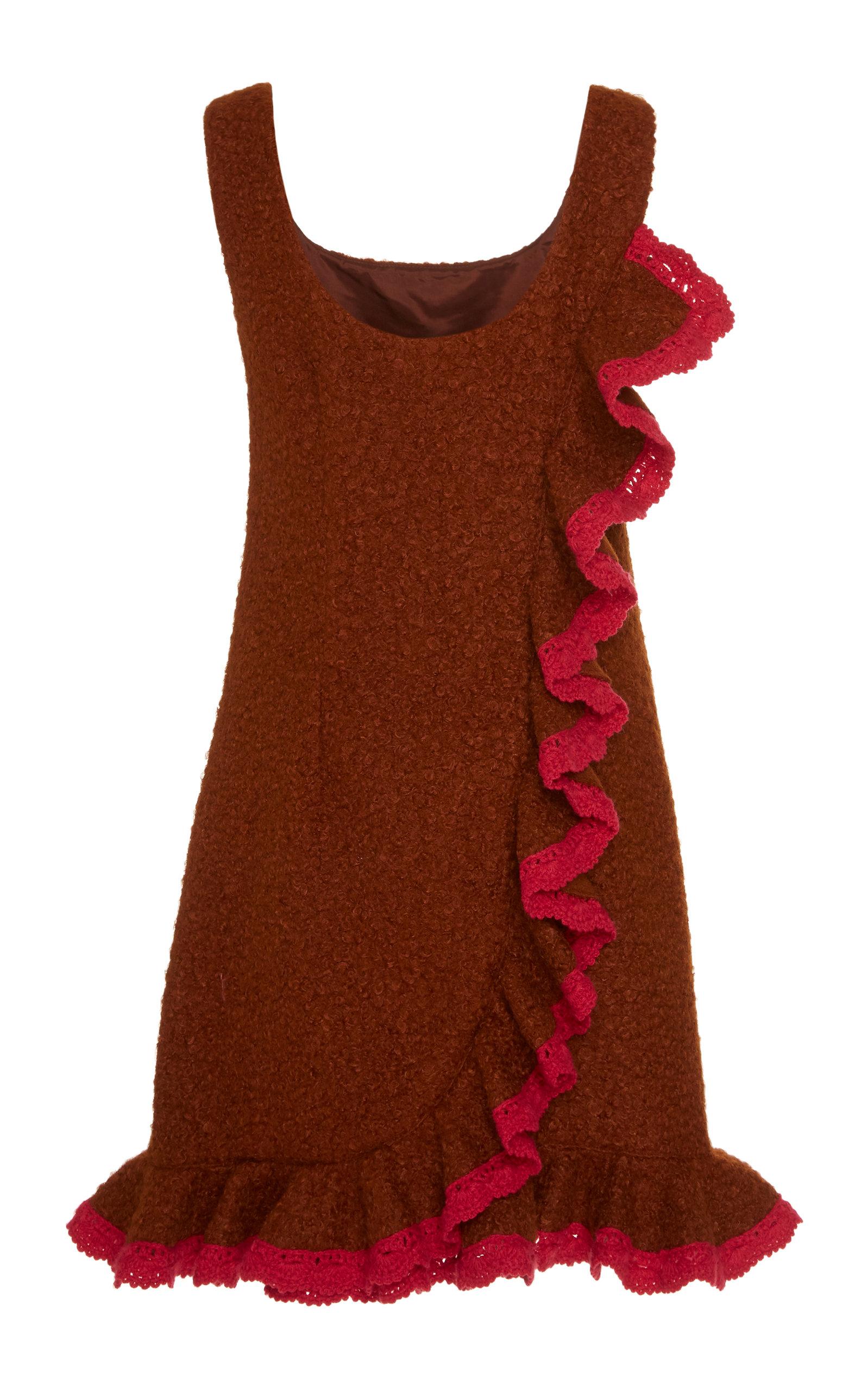 65e32fc8af Anna SuiBouclé Ruffled-Hem Jumper Dress. CLOSE. Loading. Loading