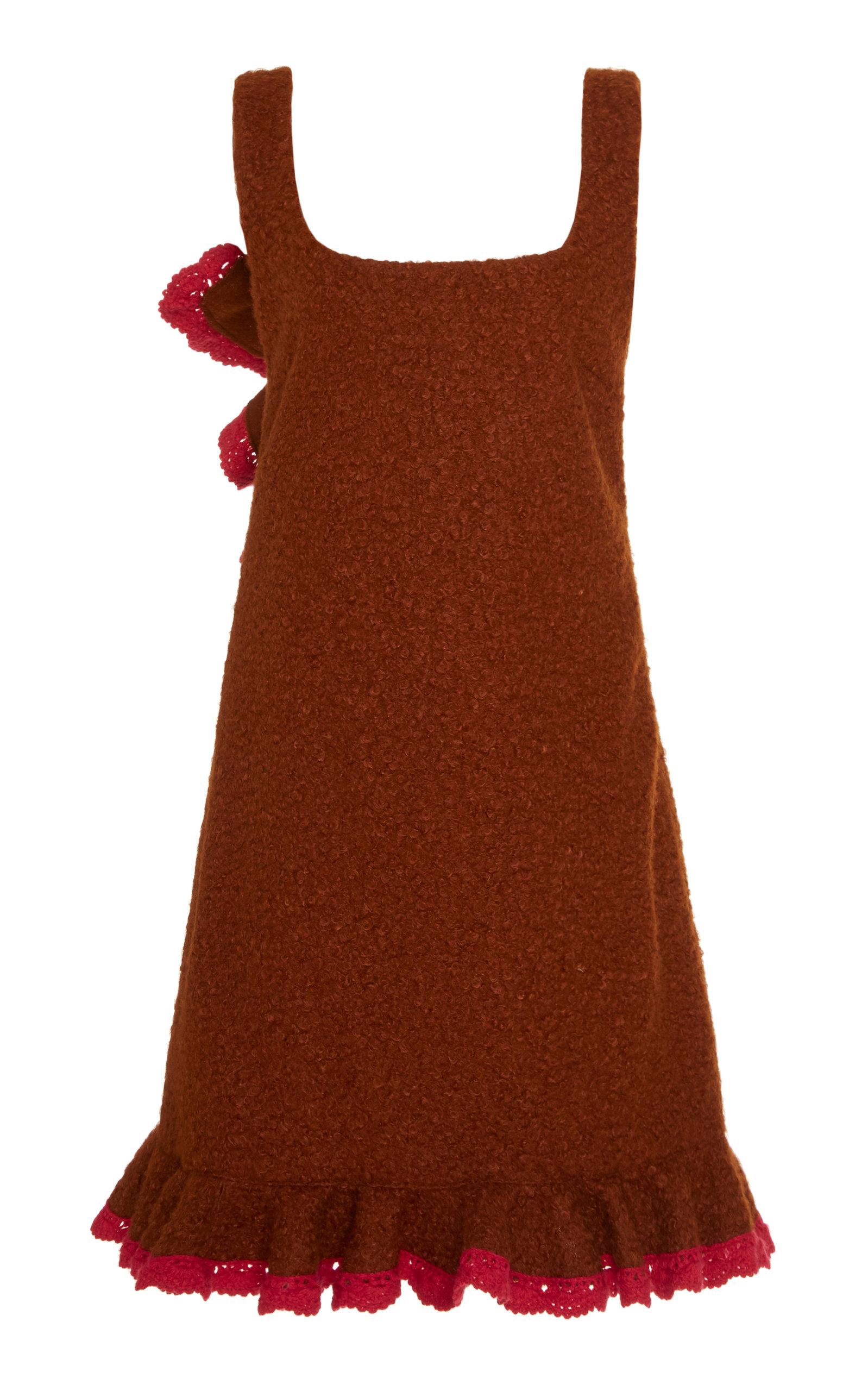 025aad1acb Bouclé Ruffled-Hem Jumper Dress by Anna Sui | Moda Operandi