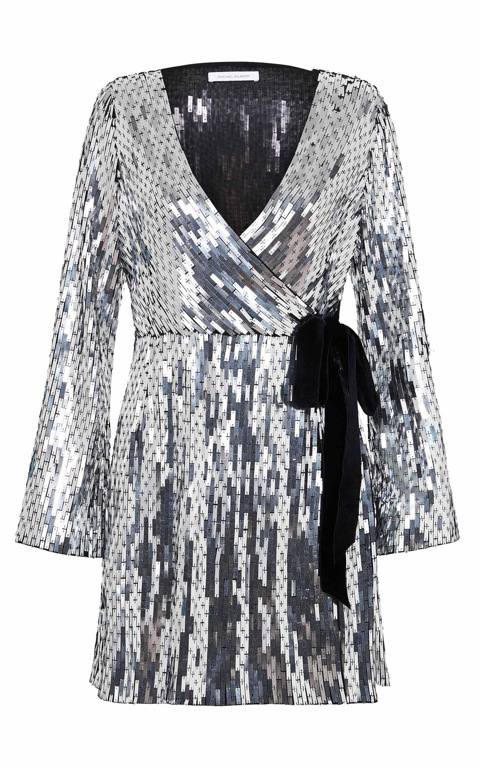 Rachel Gilbert LILIKA SEQUINED WRAP DRESS
