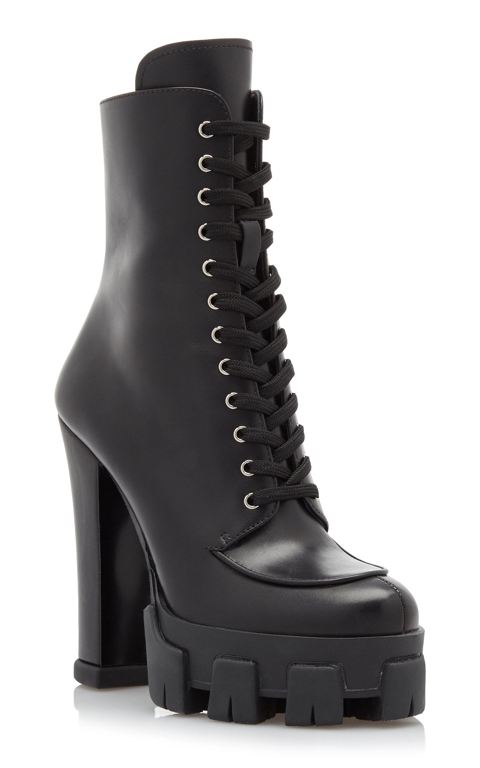 d03b6ba98dd Lace-up Leather Platform Boots