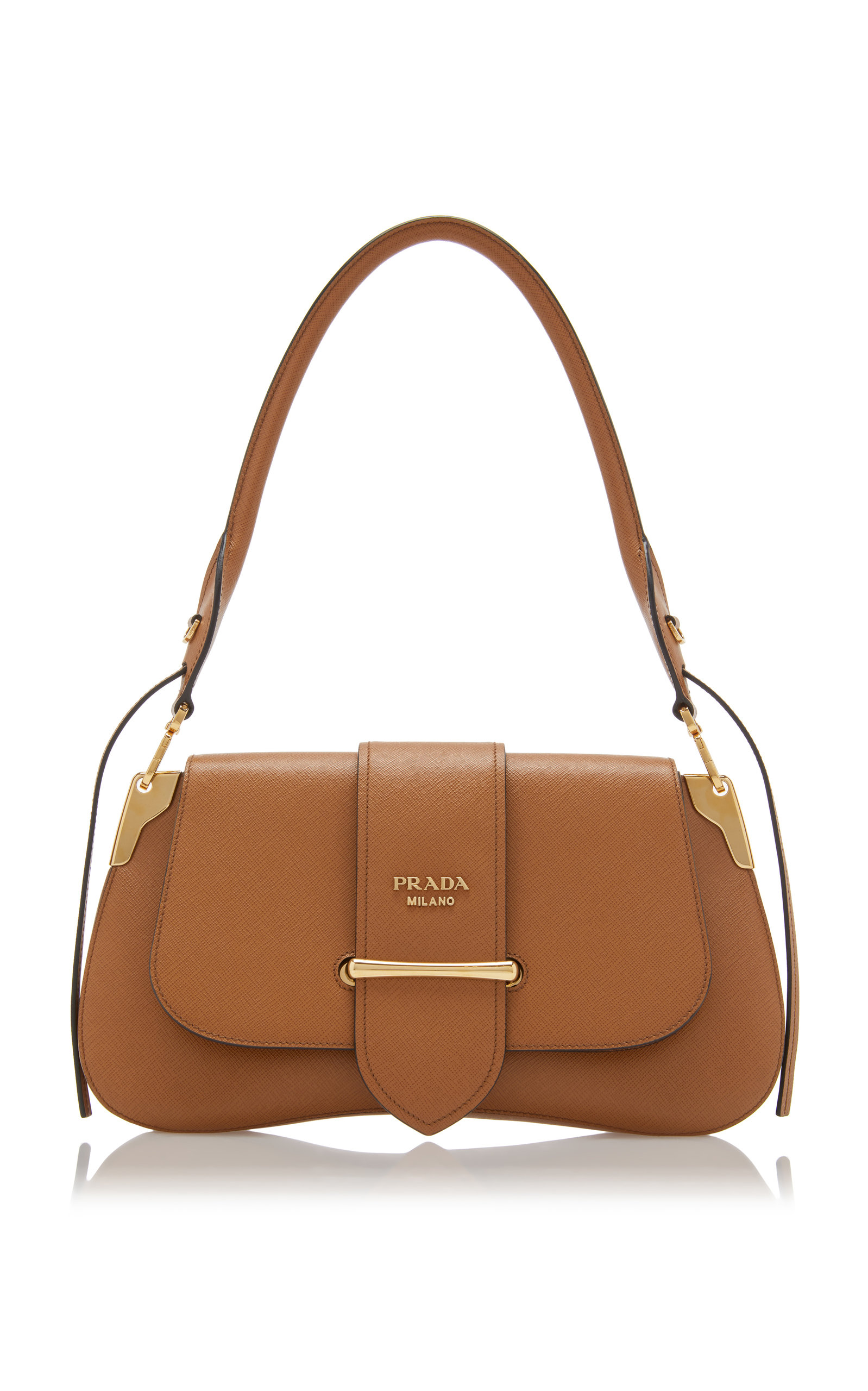 a2797848ef37 Saffiano Lux Large Shoulder Bag by Prada | Moda Operandi