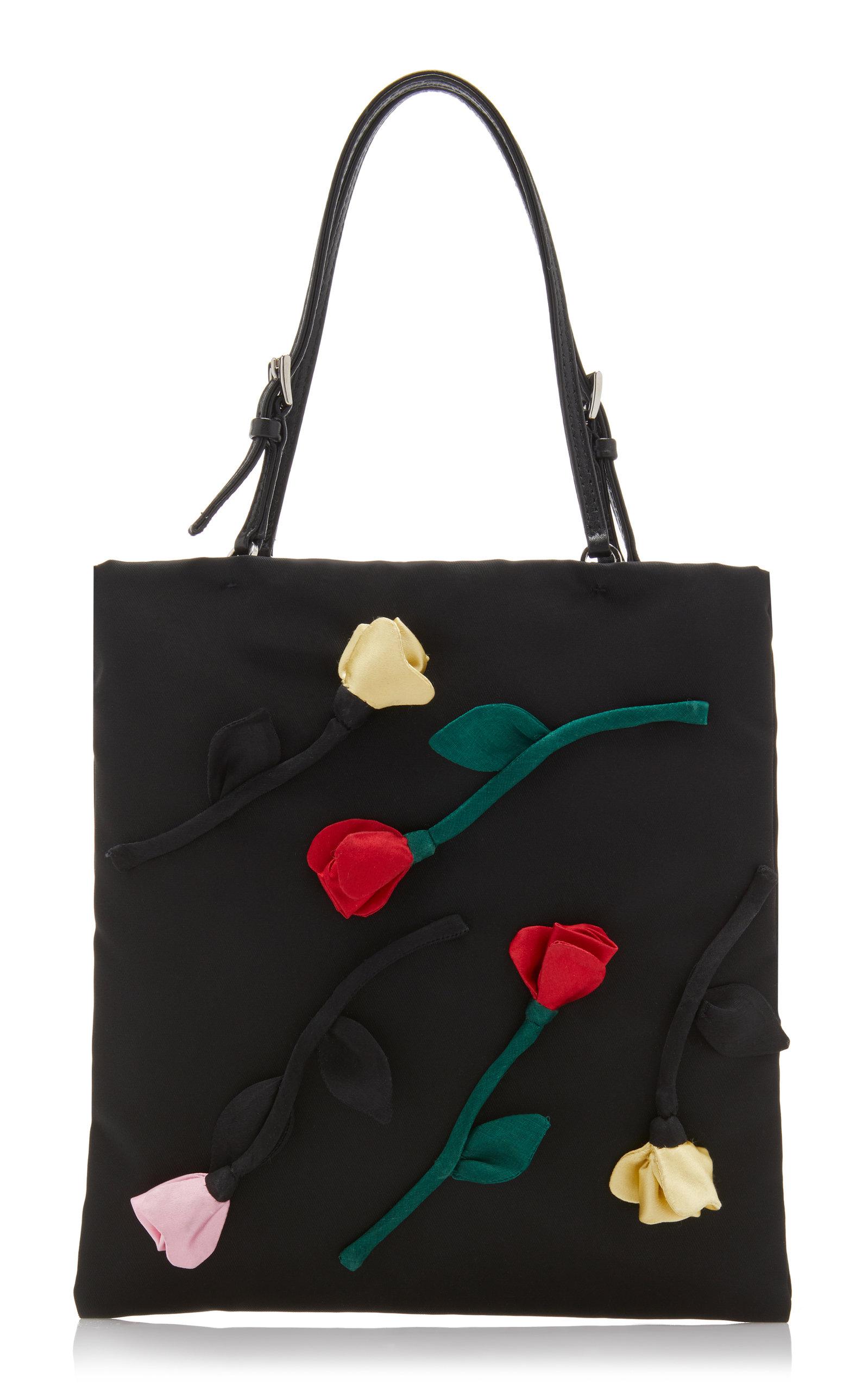 fcddd1f4572f8f Flower Embellished Tessuto Mini Top Handle Bag by Prada | Moda Operandi