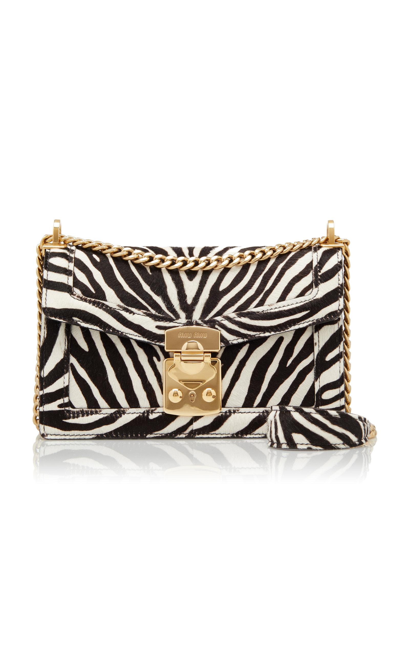 6c9e3e51 Zebra Print Leather Crossbody Bag
