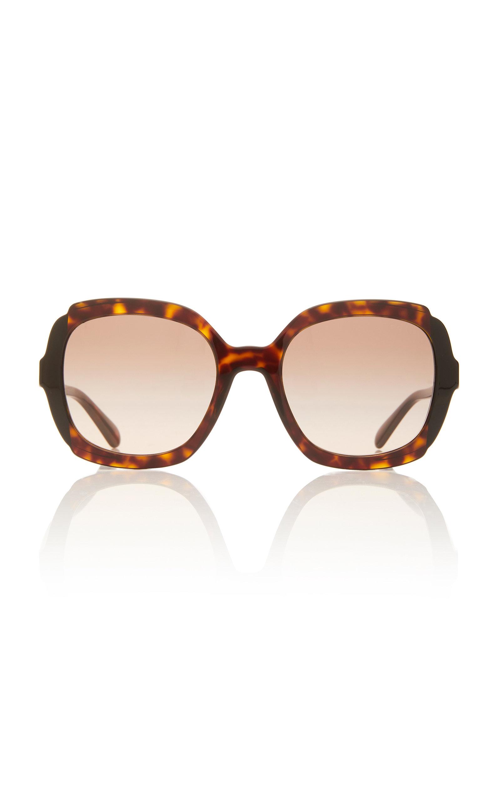 aa8eb9fdcb28 Round-Frame Acetate Sunglasses by Prada | Moda Operandi
