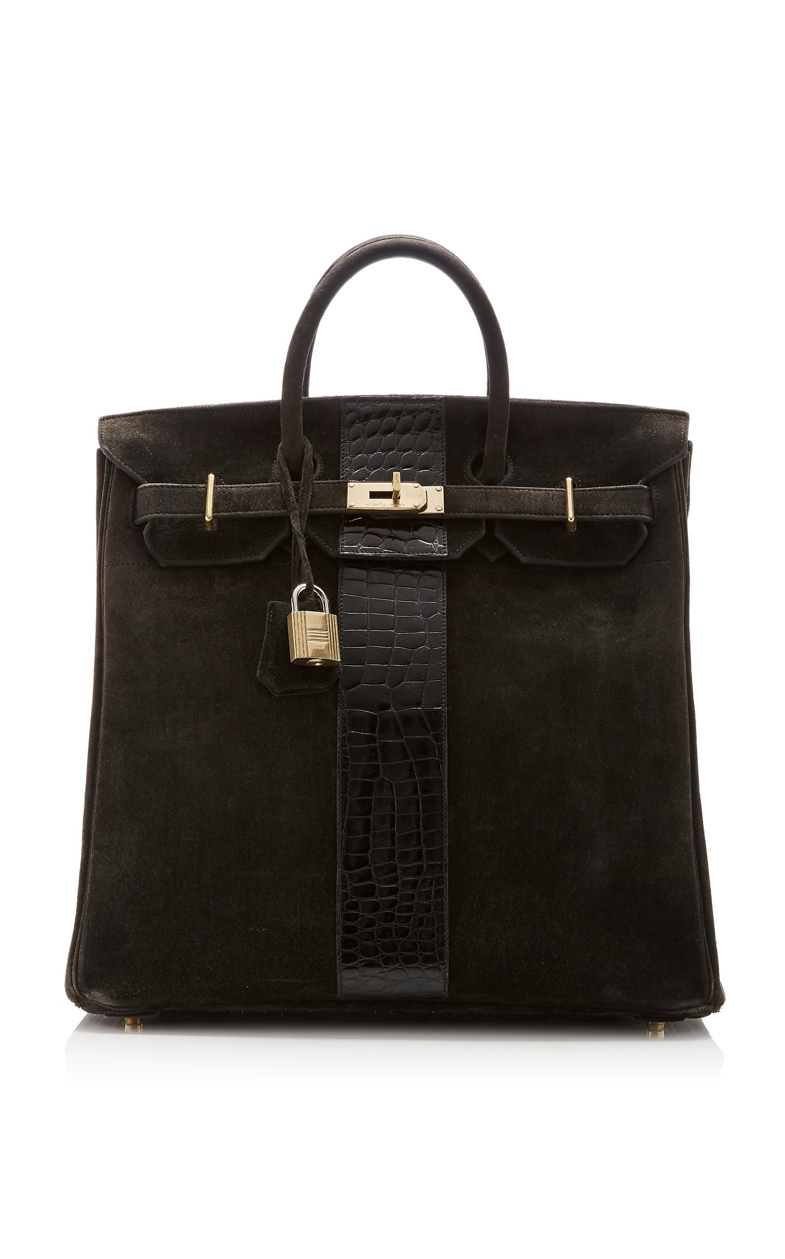 d8f8697ea6 Hermès Vintage by Heritage AuctionsHermès 40cm Black Doblis Suede and  Crocodile HAC Birkin. CLOSE. Loading