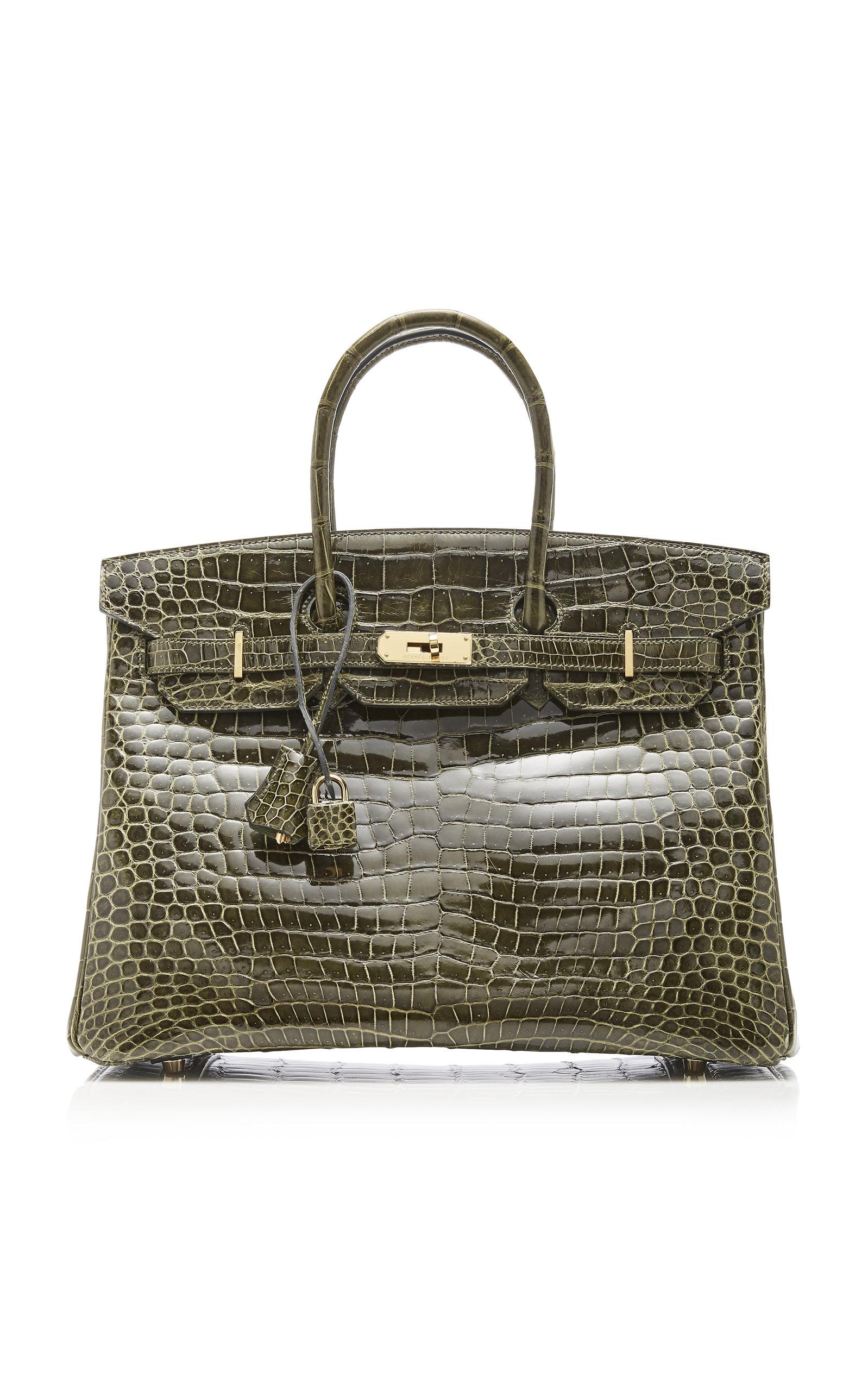 3427150195d0 Hermès Vintage by Heritage AuctionsHermès 35cm Vert Veronese Porosus  Crocodile Birkin