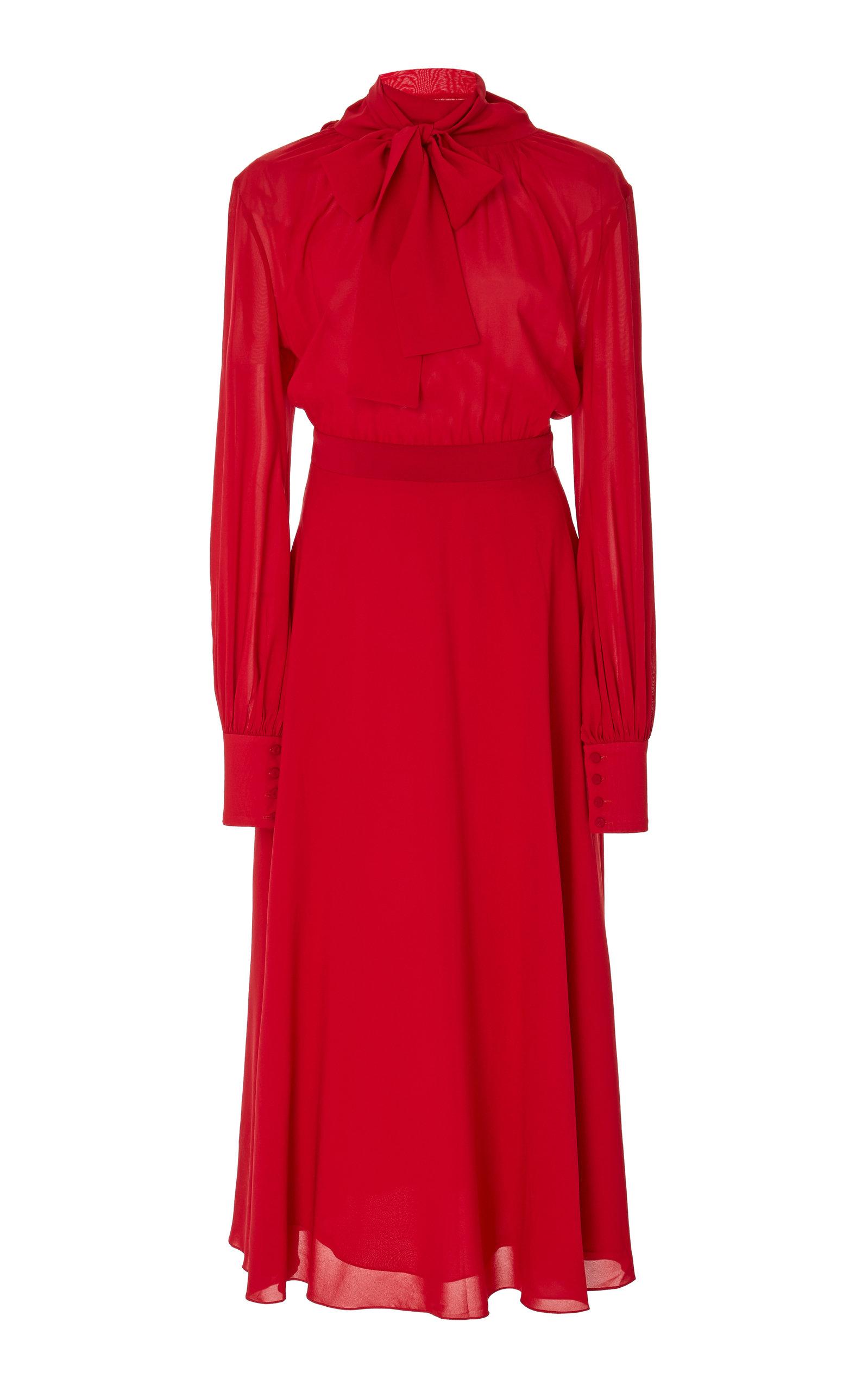 aa3e176cef Sarita Silk Midi Dress by Andres Otalora