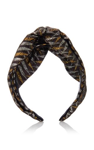 Benoit Missolin Fallon Knotted Lurex Headband In Black
