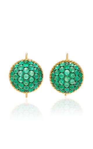 Emerald & Diamond Target Stud Earrings by Martin Katz | Moda