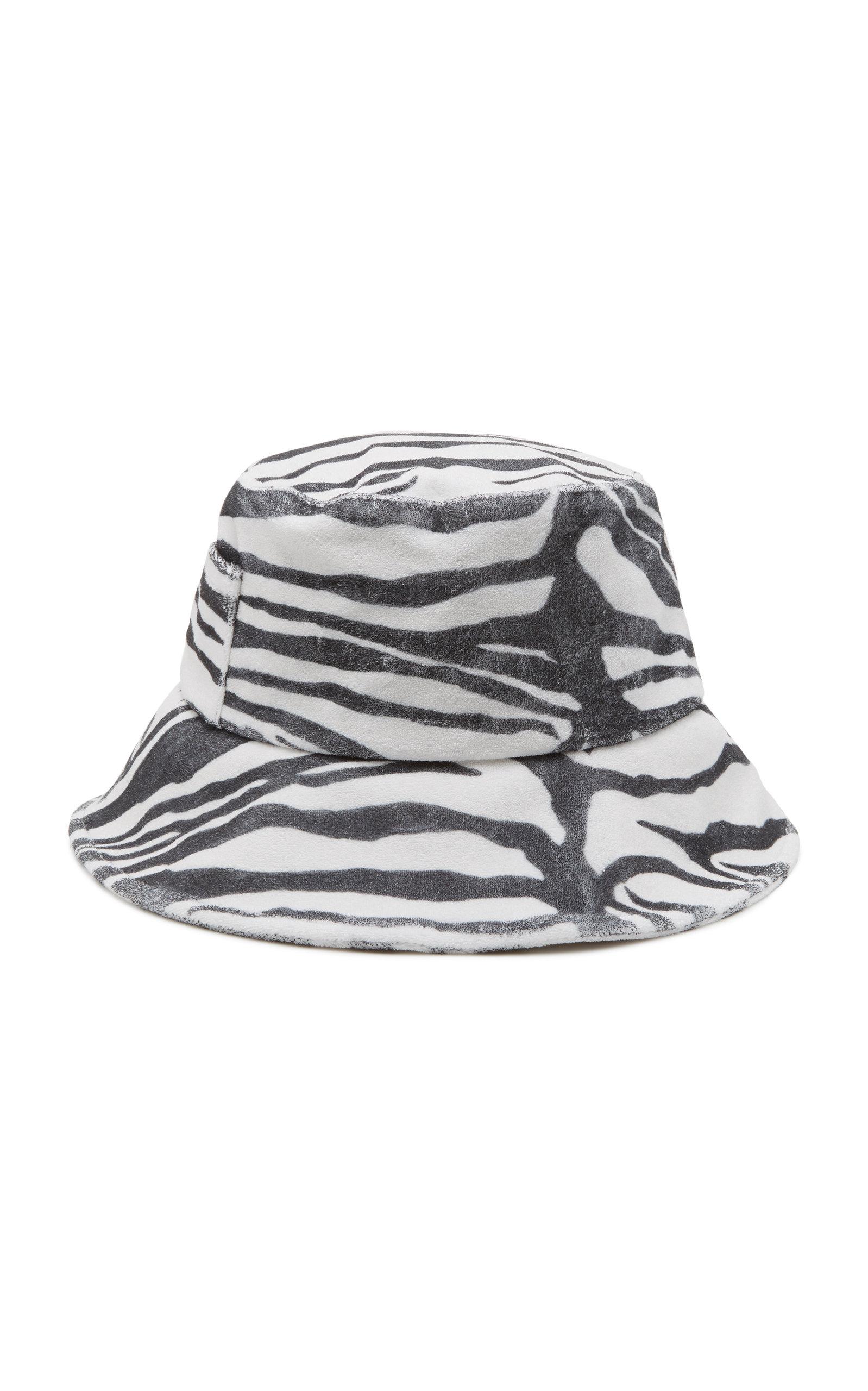 a08629bda Wave Zebra-Print Terry Bucket Hat