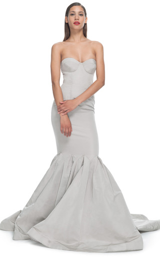 Medium katie ermilio dark grey sweetheart bow gown