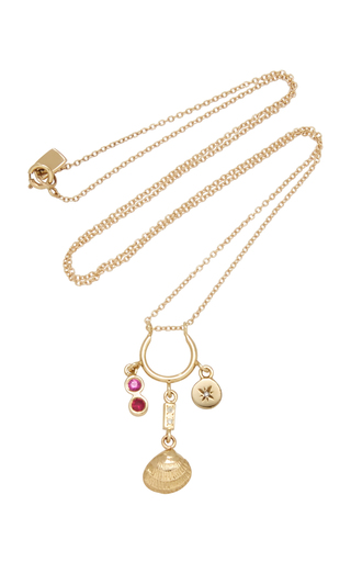 6e29638f29820f Mischief Managed 24K Gold-Plated Charm Necklace by Brinker & Eliza ...
