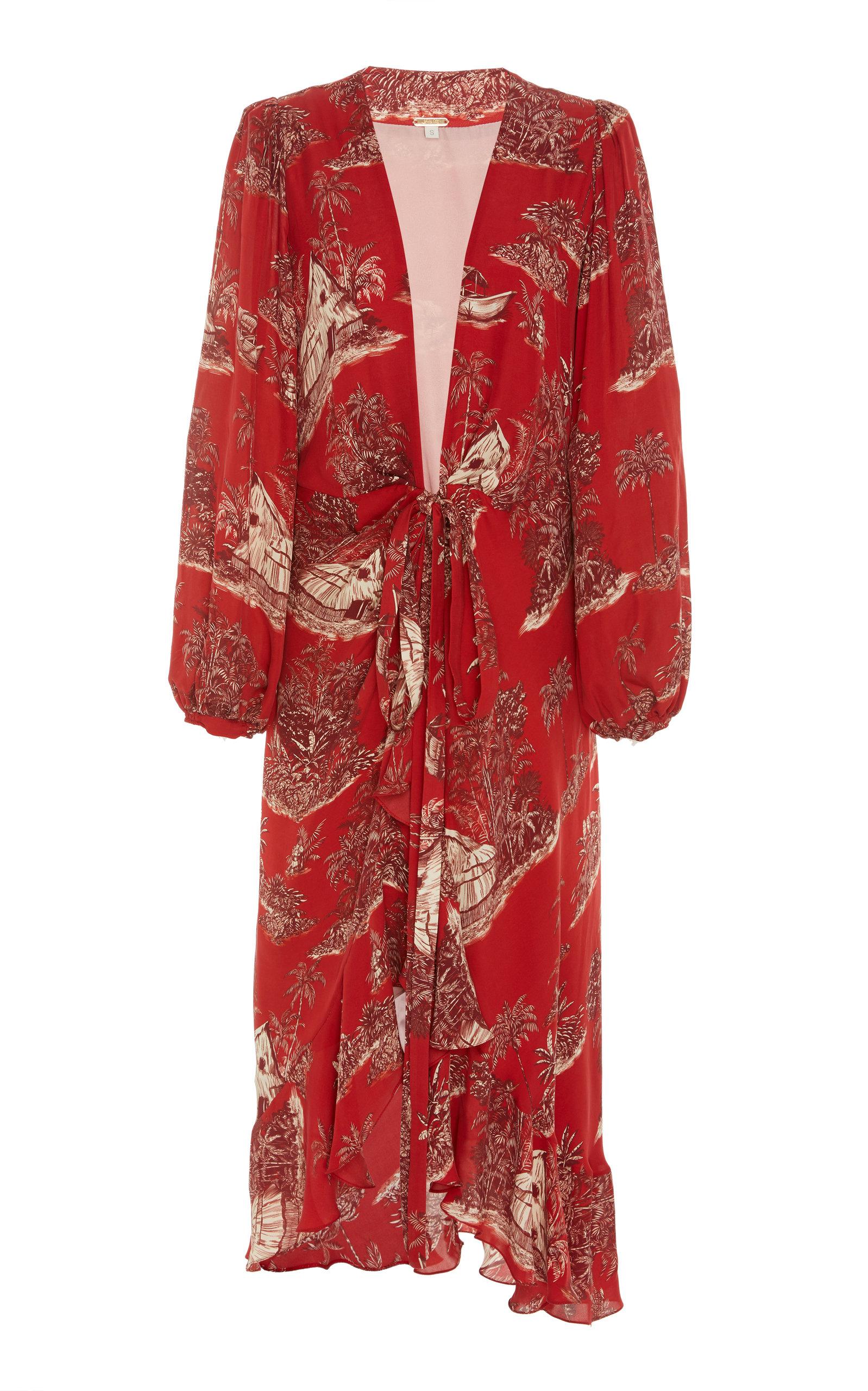 Cuando El Rio Suena Printed Cotton Voile Midi Dress by Johanna Ortiz