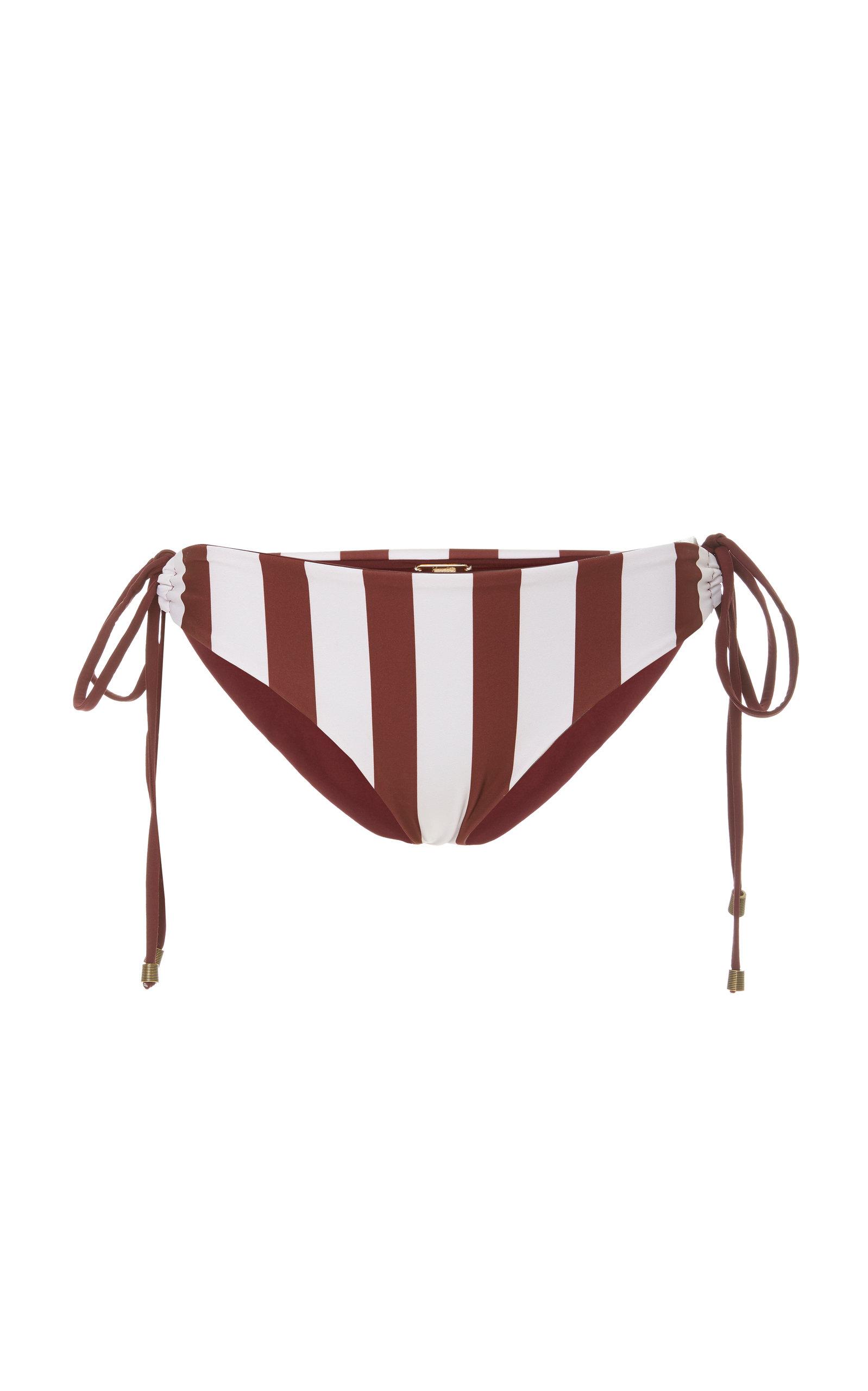 Alma Pacífica Striped Bikini Briefs by Johanna Ortiz