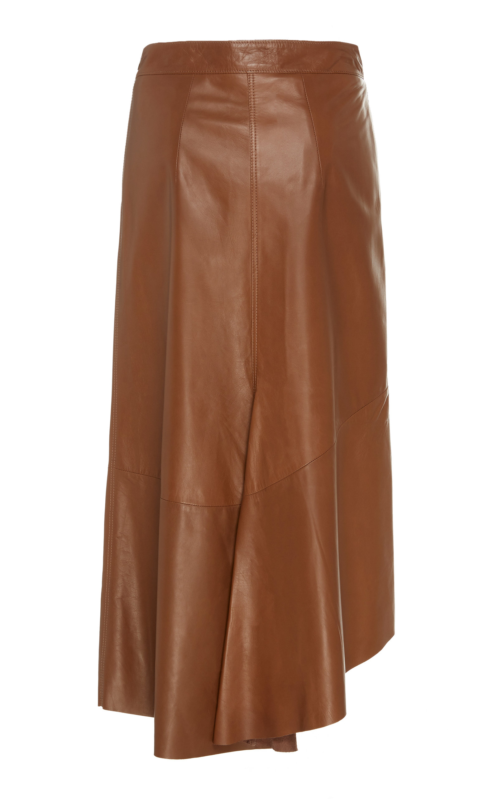 aaf86cee43 Brunello CucinelliHigh-Waisted Leather Midi Skirt. CLOSE. Loading. Loading