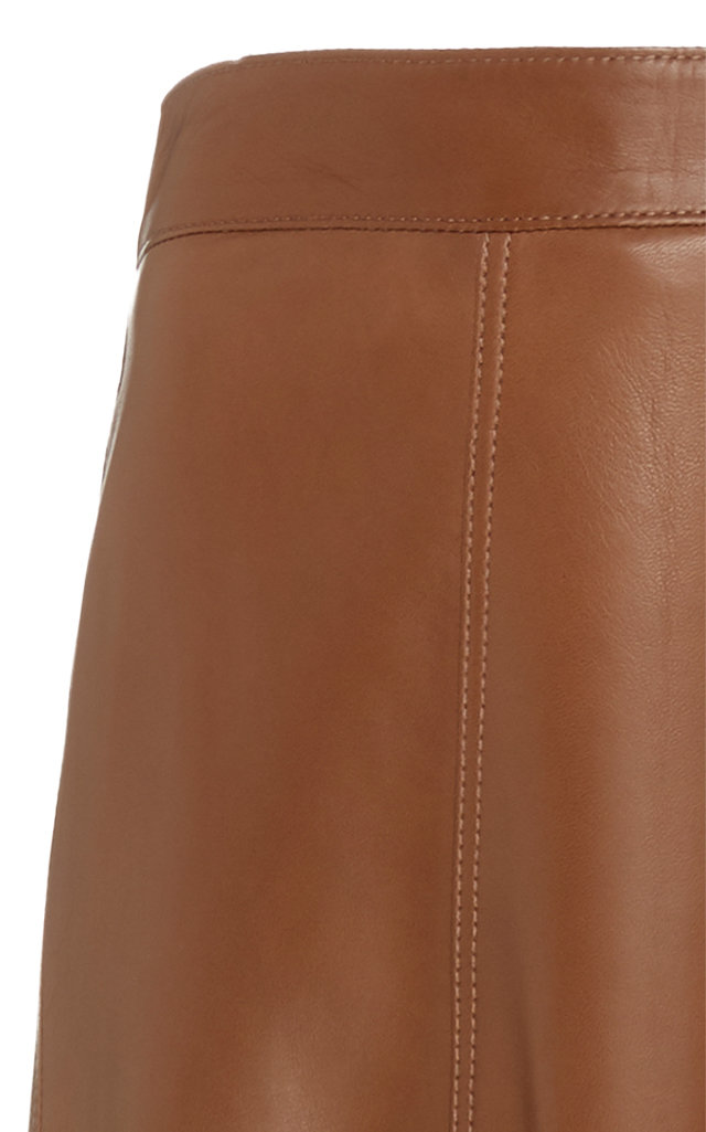 83bb89e323 Brunello CucinelliHigh-Waisted Leather Midi Skirt. CLOSE. Loading. Loading.  Loading