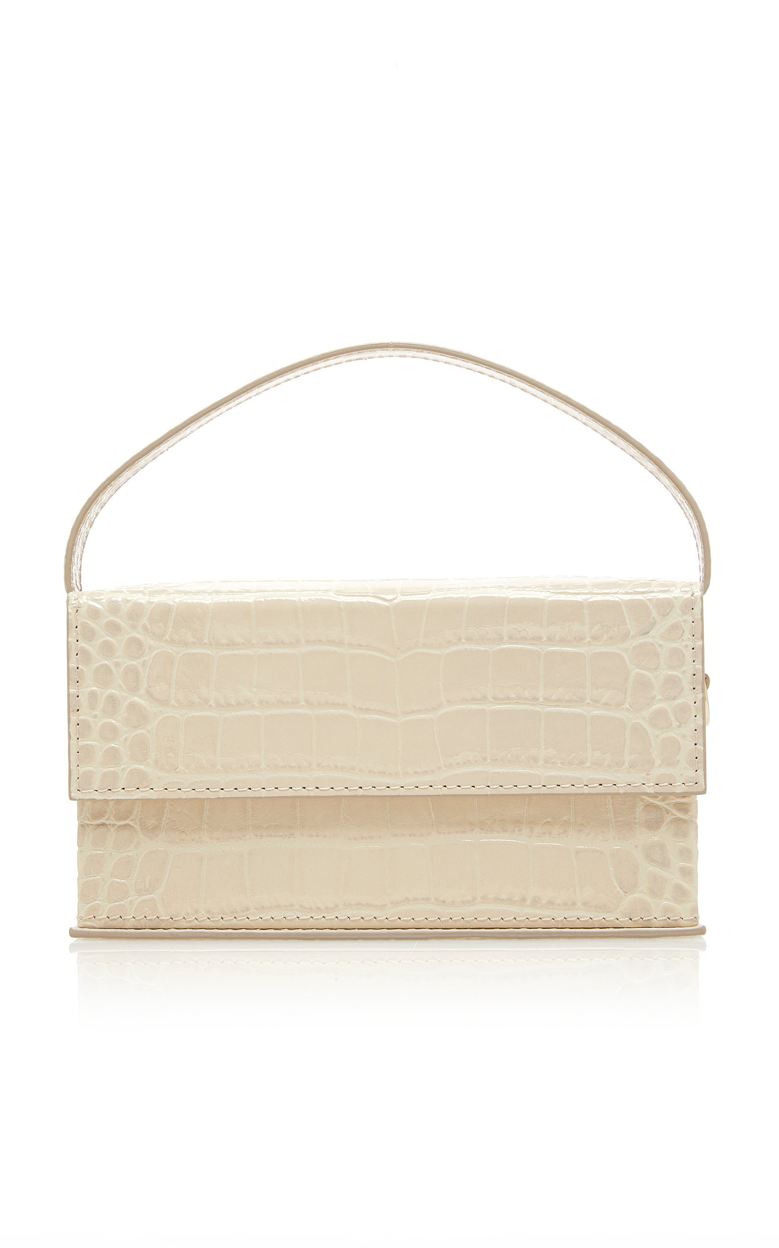 L'AFSHAR | L'Afshar Ida Embossed Leather Bag With Short Clear Chain | Goxip