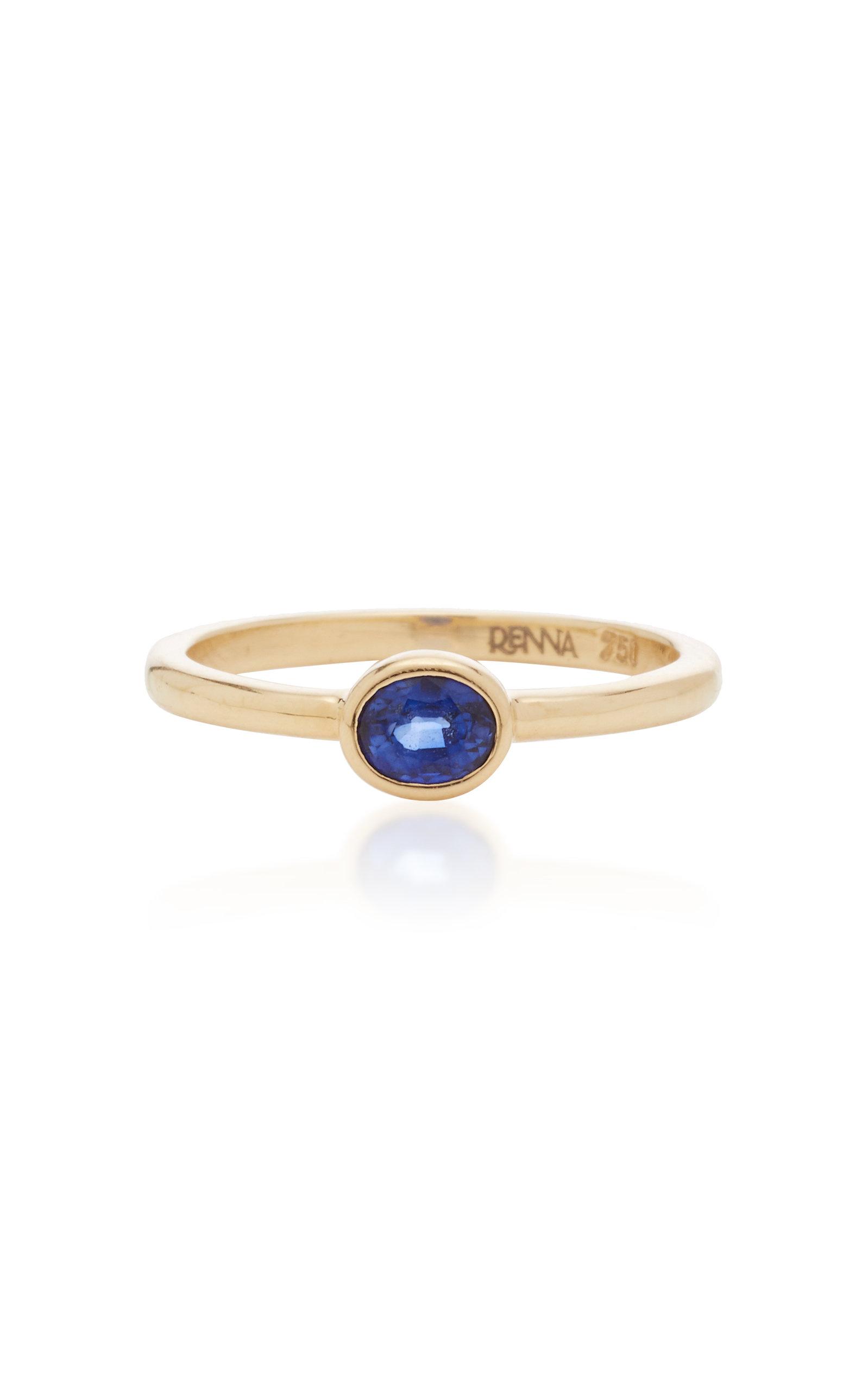 RENNA   RENNA Oval Sapphire Ring   Goxip
