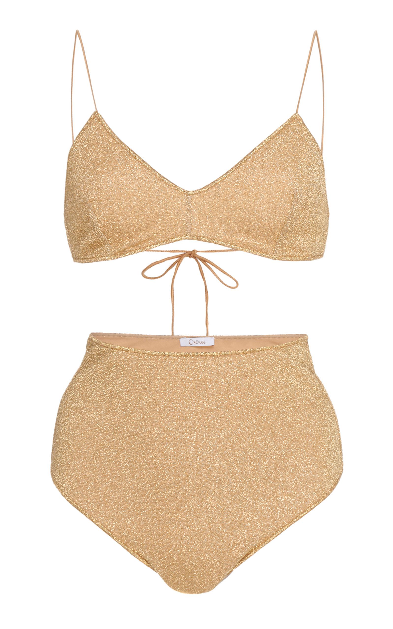 OSEREE | Oseree Lumière Stretch-Lurex Bikini | Goxip
