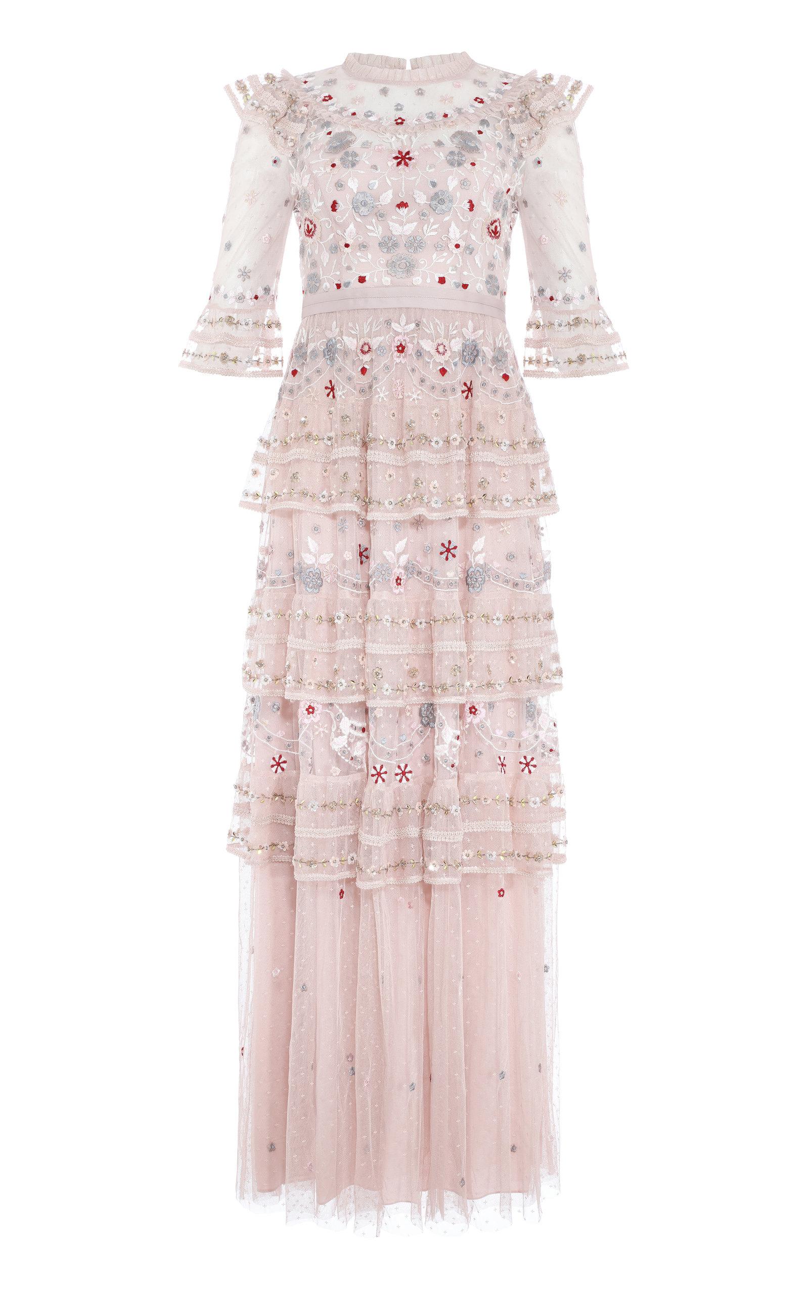 NEEDLE & THREAD | Needle & Thread Eden Embroidered Maxi Dress | Goxip