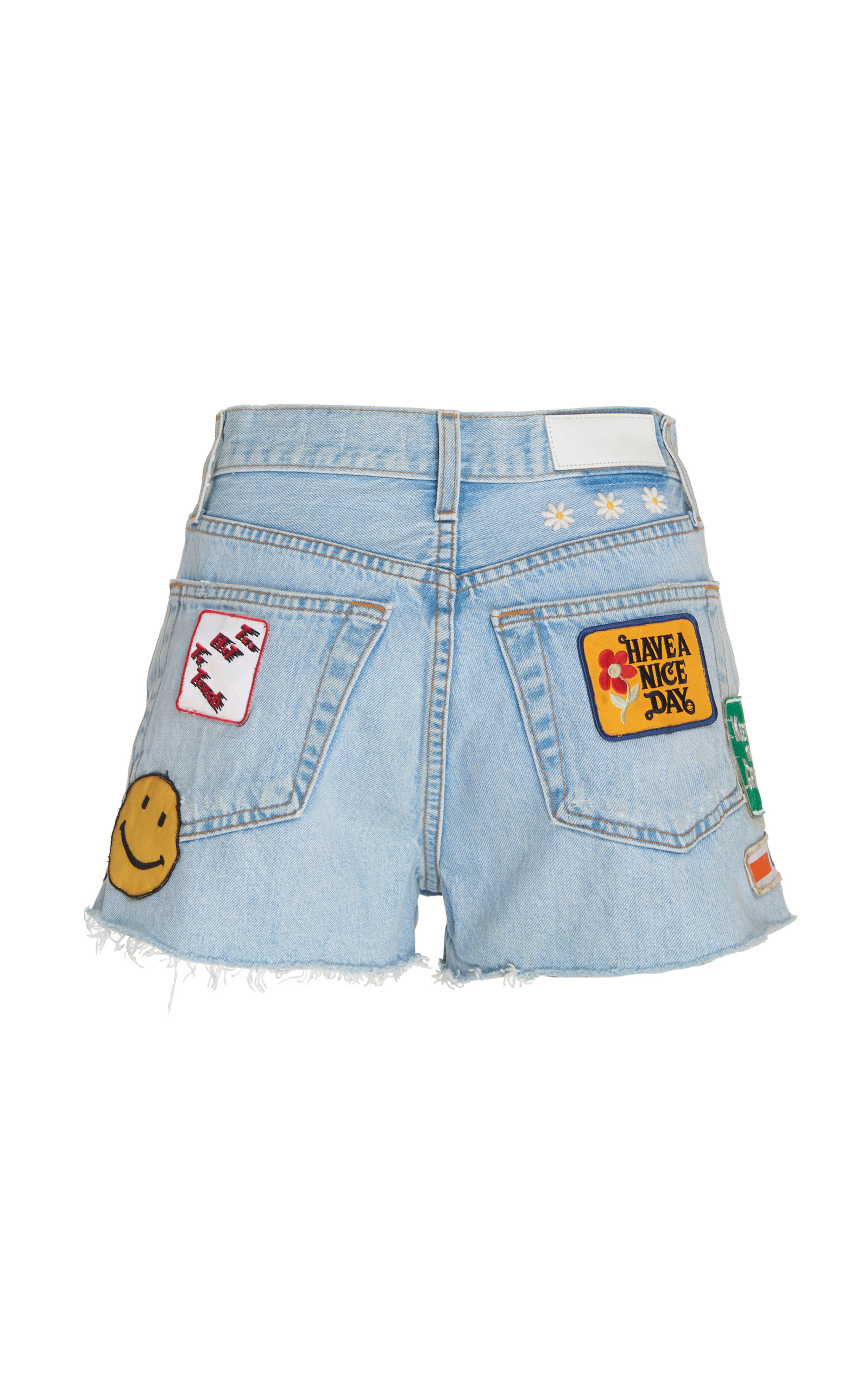 Re/done Shorts Classic Embellished Denim Short