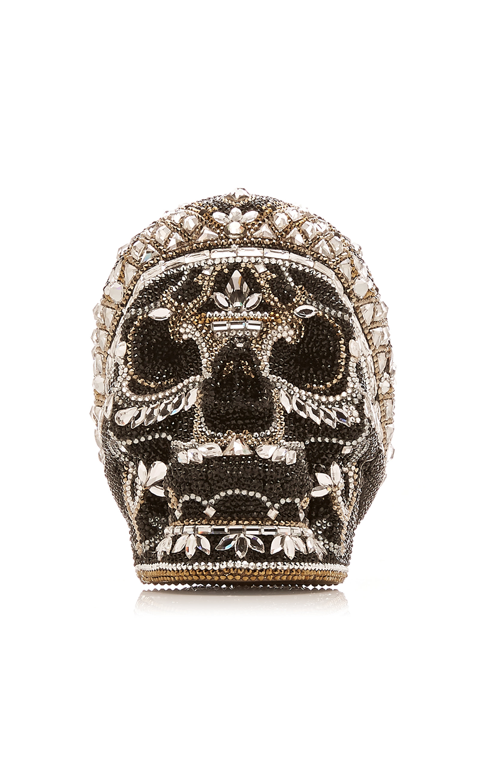 JUDITH LEIBER | Judith Leiber Couture Bela Lugosi Crystal Skull Bag | Goxip