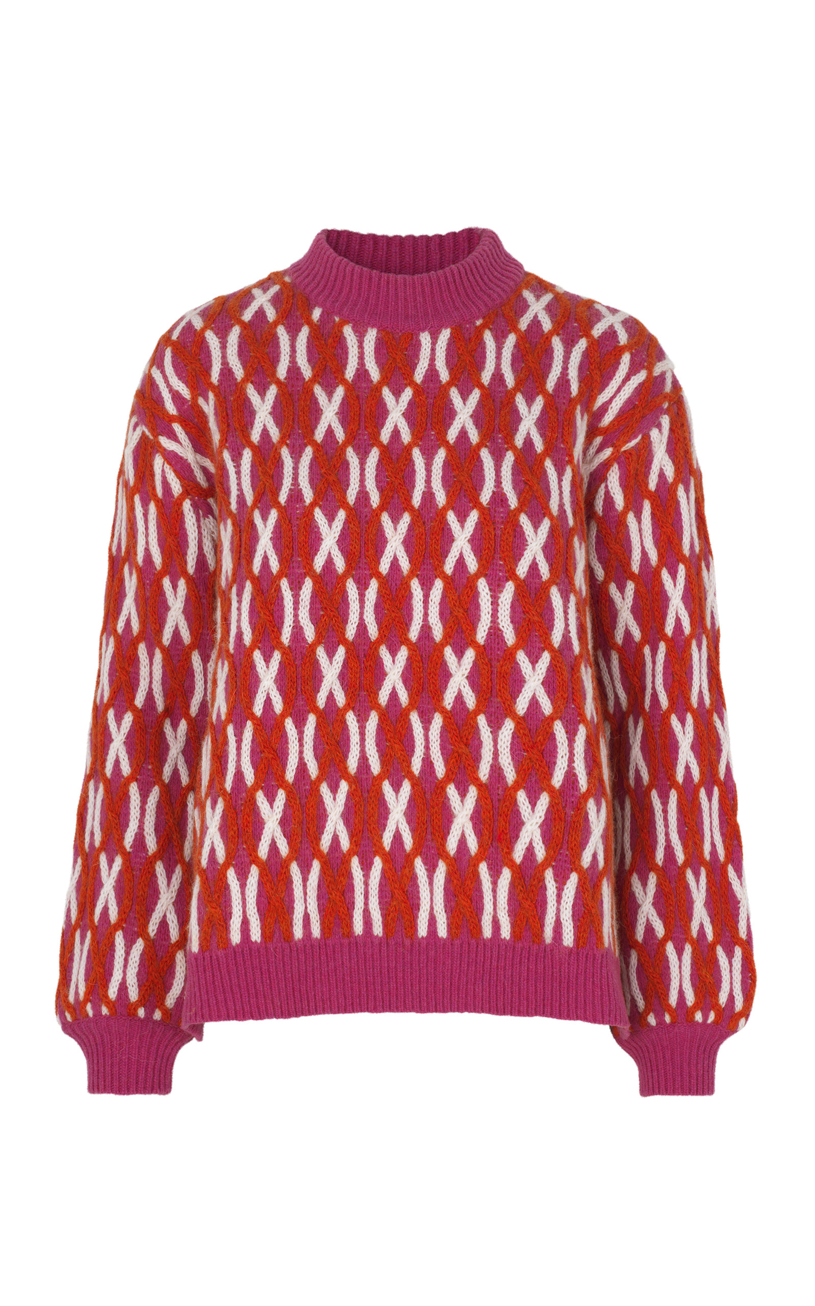 be43cc75ab1e98 Stine Goya Anders Cross Knit Sweater In Pink | ModeSens